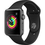 Apple Watch Series 3, 42 mm, Alumínio Cinza Espacial, Pulseira Esportiva Cinza e Fecho Clássico - MTF32BZ/A