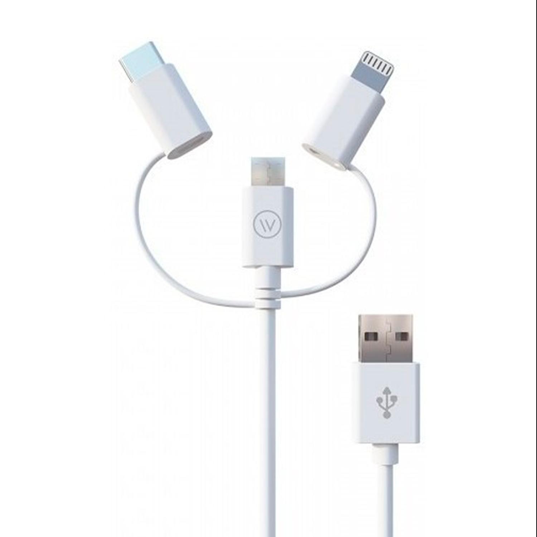 CABO MIC.USB E IPHONE 2X1 BRA WI334 MU