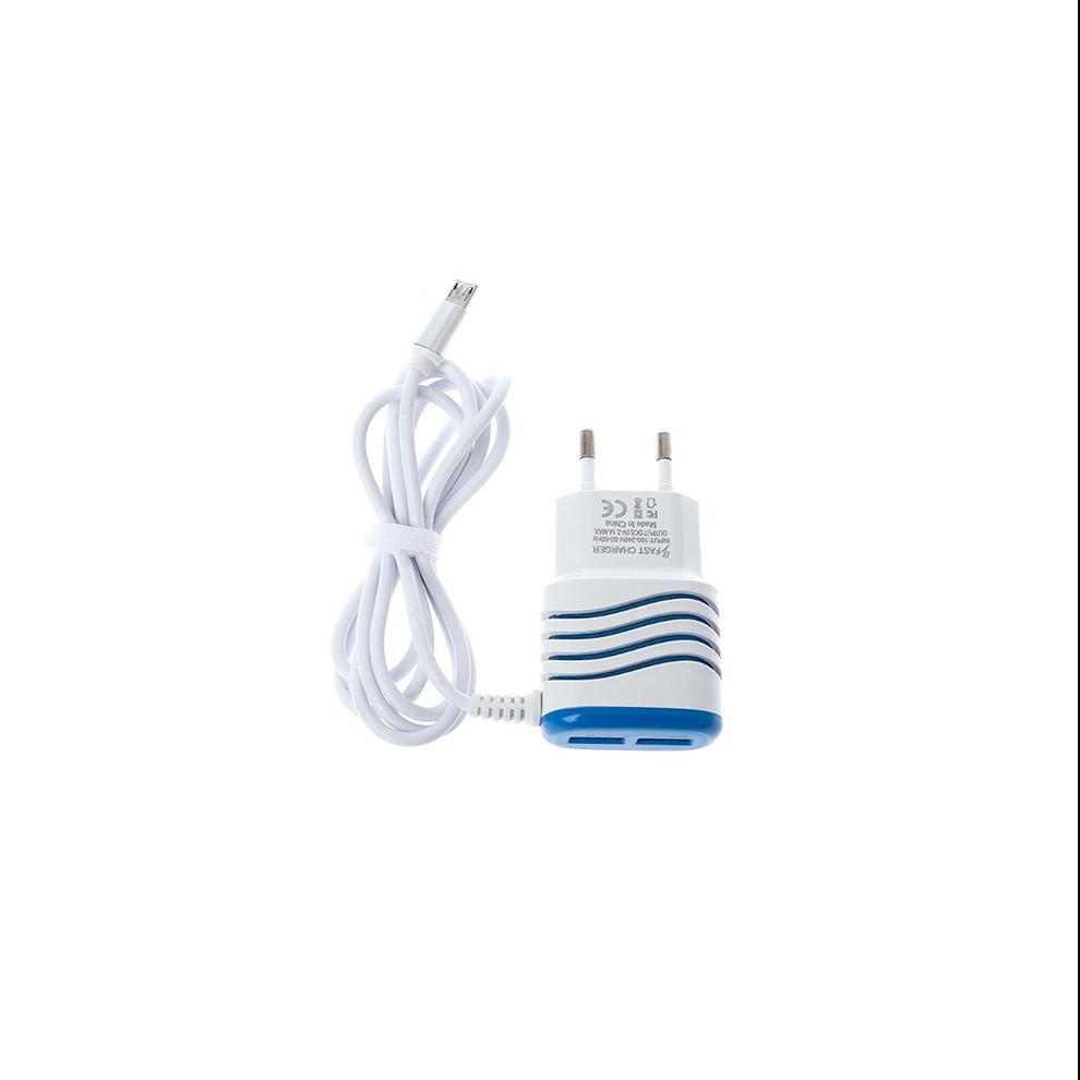 CARREG.PARE+CABO MICRO USB BRA/AZUL MOB