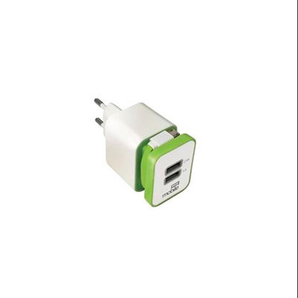 CARREG.PARE+CABO MICRO USB BRA/VERD MOB