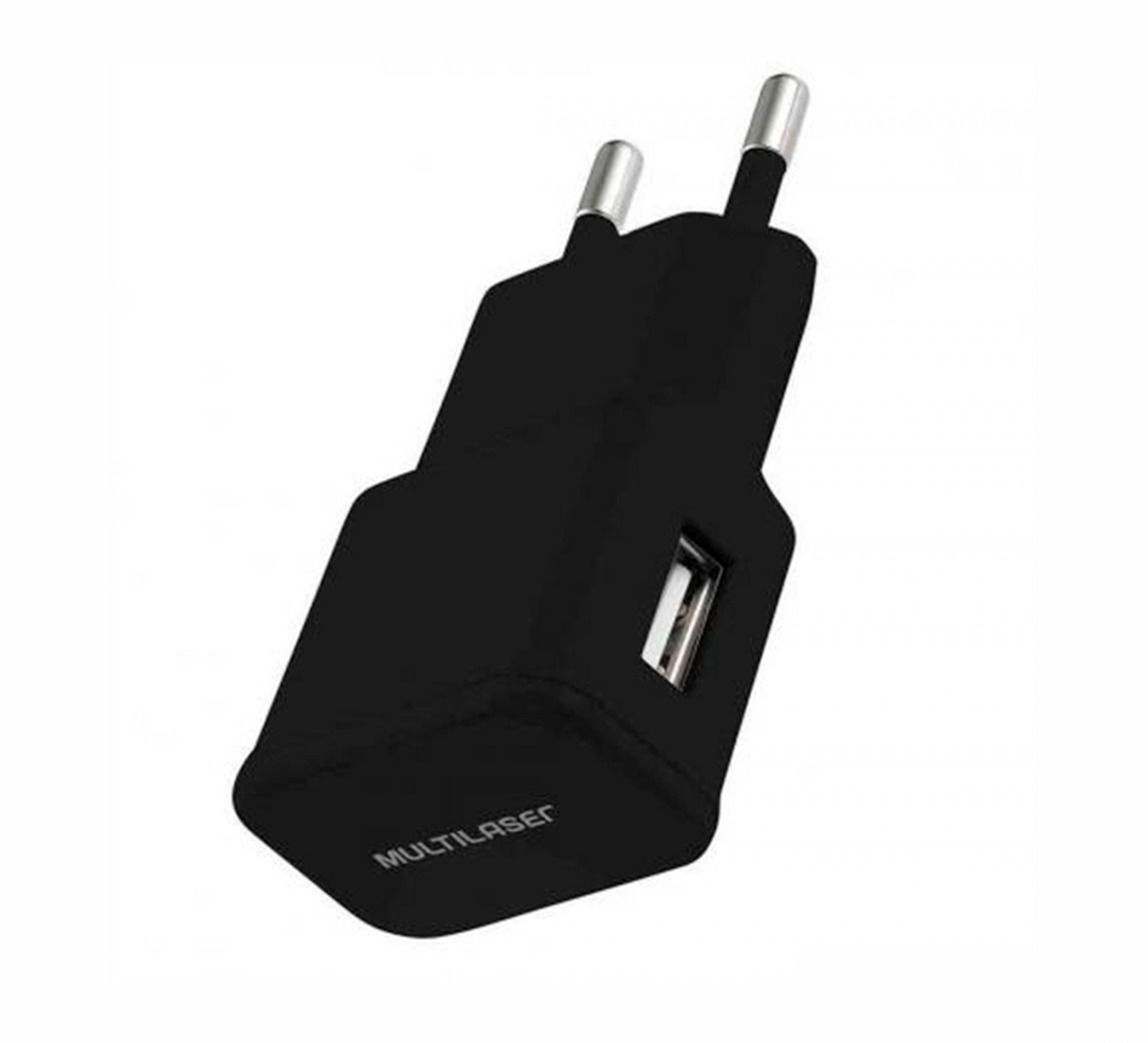 CARREGADOR USB P/ CELULAR 2A PRETO - CB104