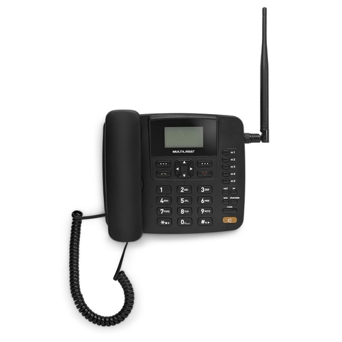 Celular Rural Fixo Multilaser Quadriband 3G Preto - RE504