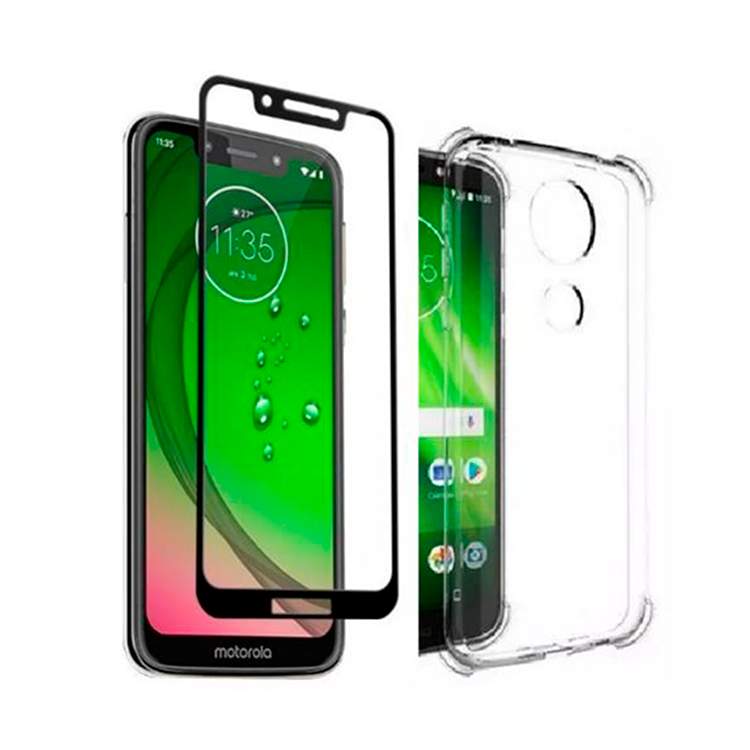 KIT CAPA+PELICULA MOTO G7 PLAY