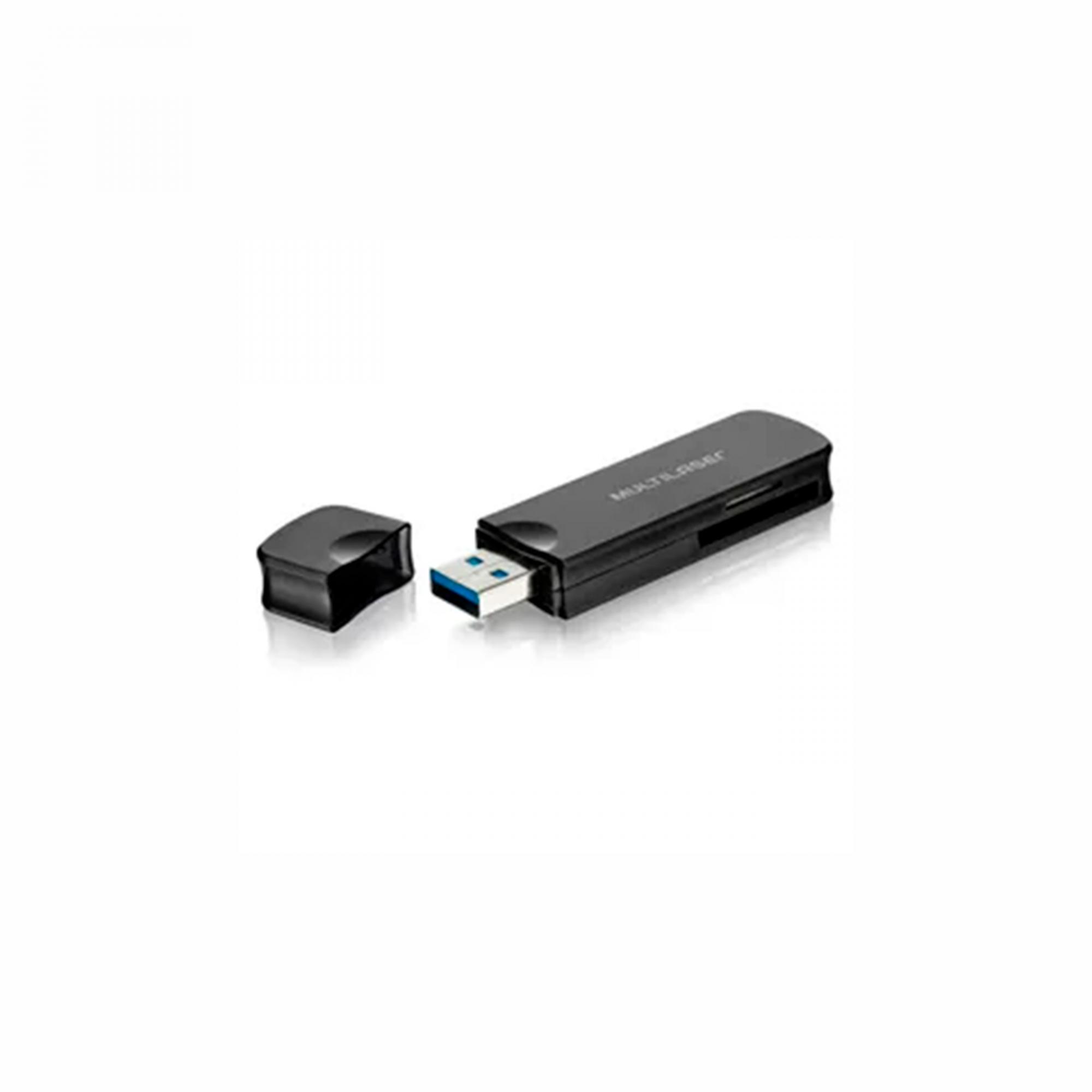 LEITOR CARTAO USB AC290 MULTILASER