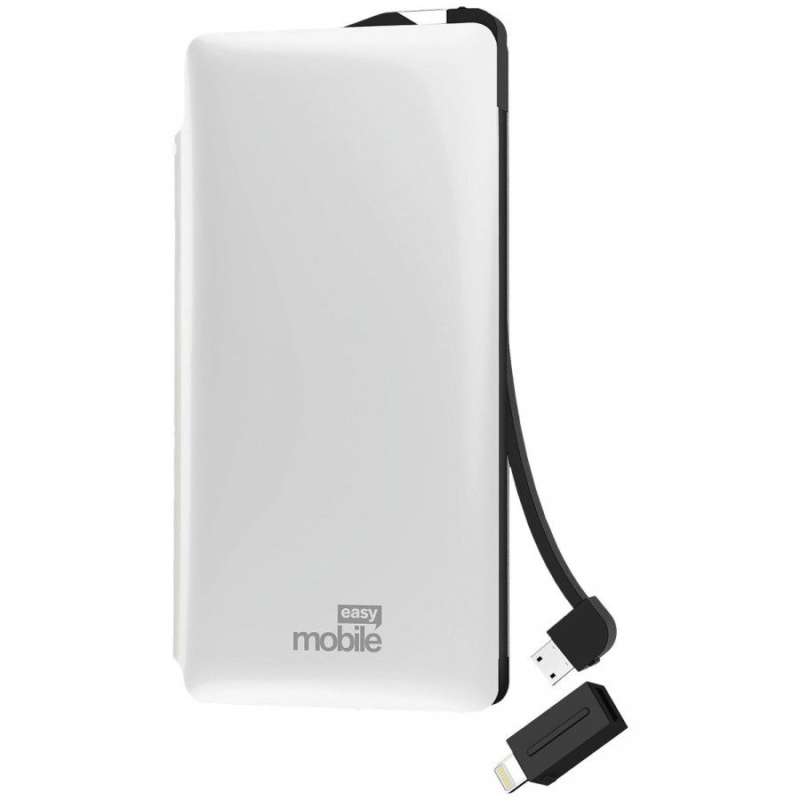 POWER BANK 6.000 SMART TURBO BRANCO MOBILE