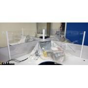 Divisória de baia em PETG 50x50cm