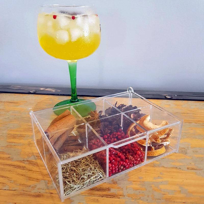Caixa de Especiarias para Gin em Acrílico