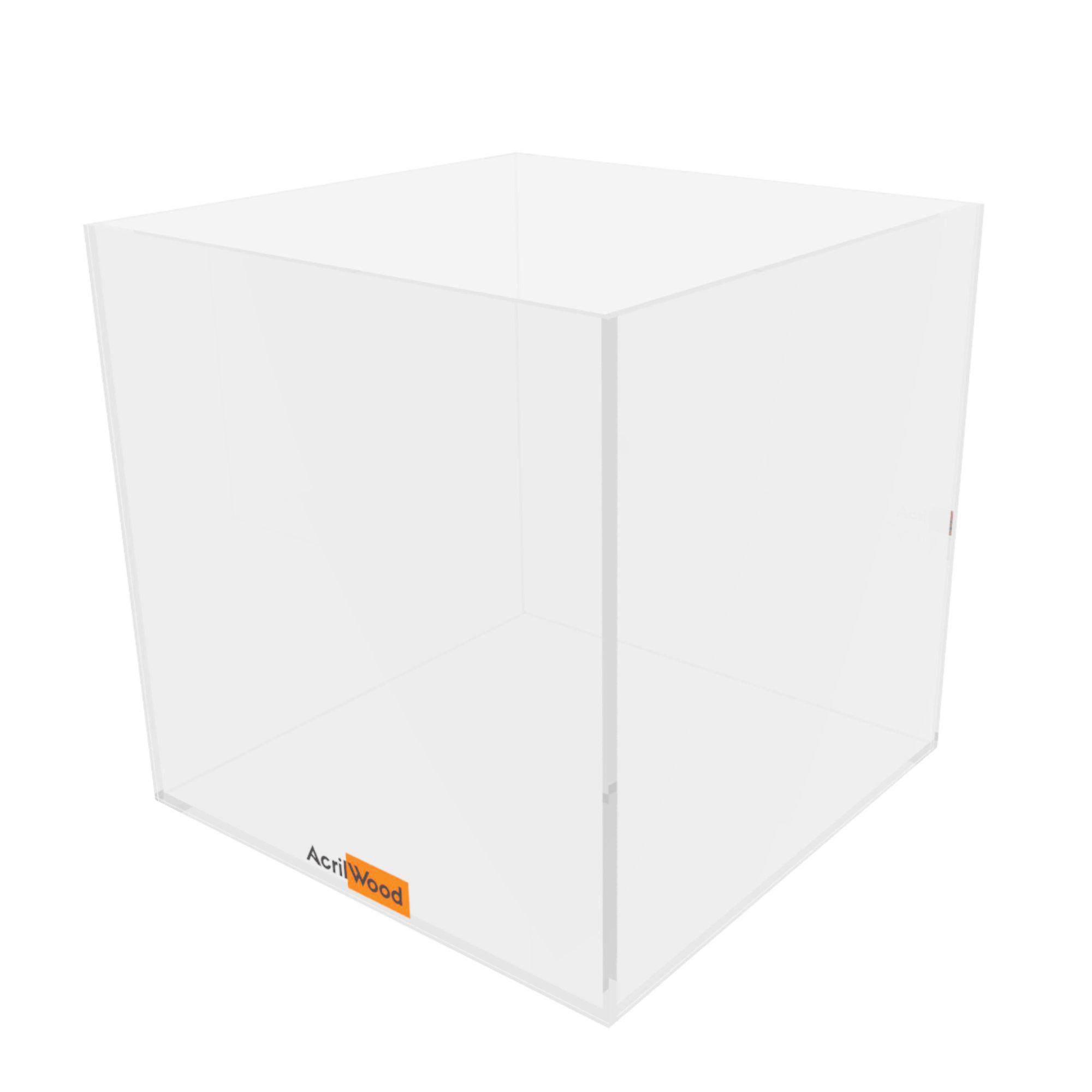 Caixa Quadrada Em Acrílico 16x16x16cm