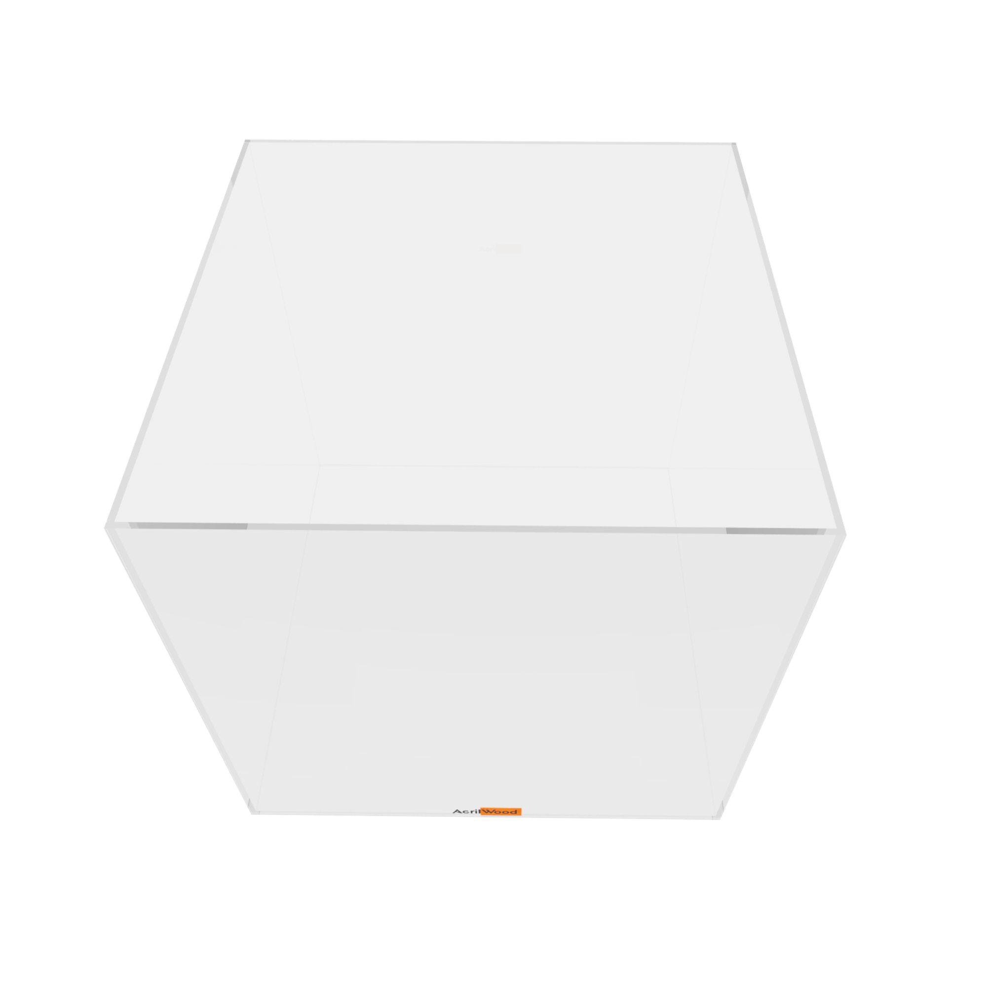 Caixa Quadrada Em Acrílico 25x25x25cm