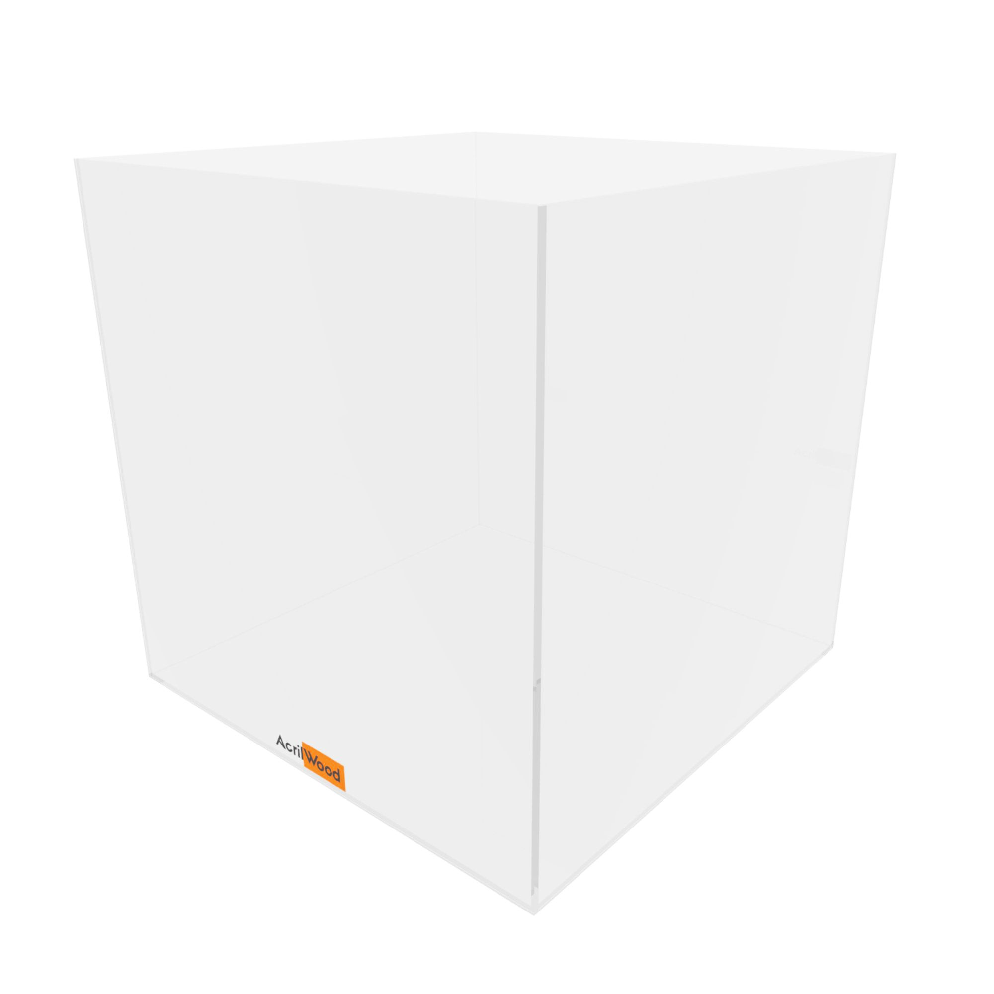 Caixa Quadrada Em Acrílico 30x30x30cm