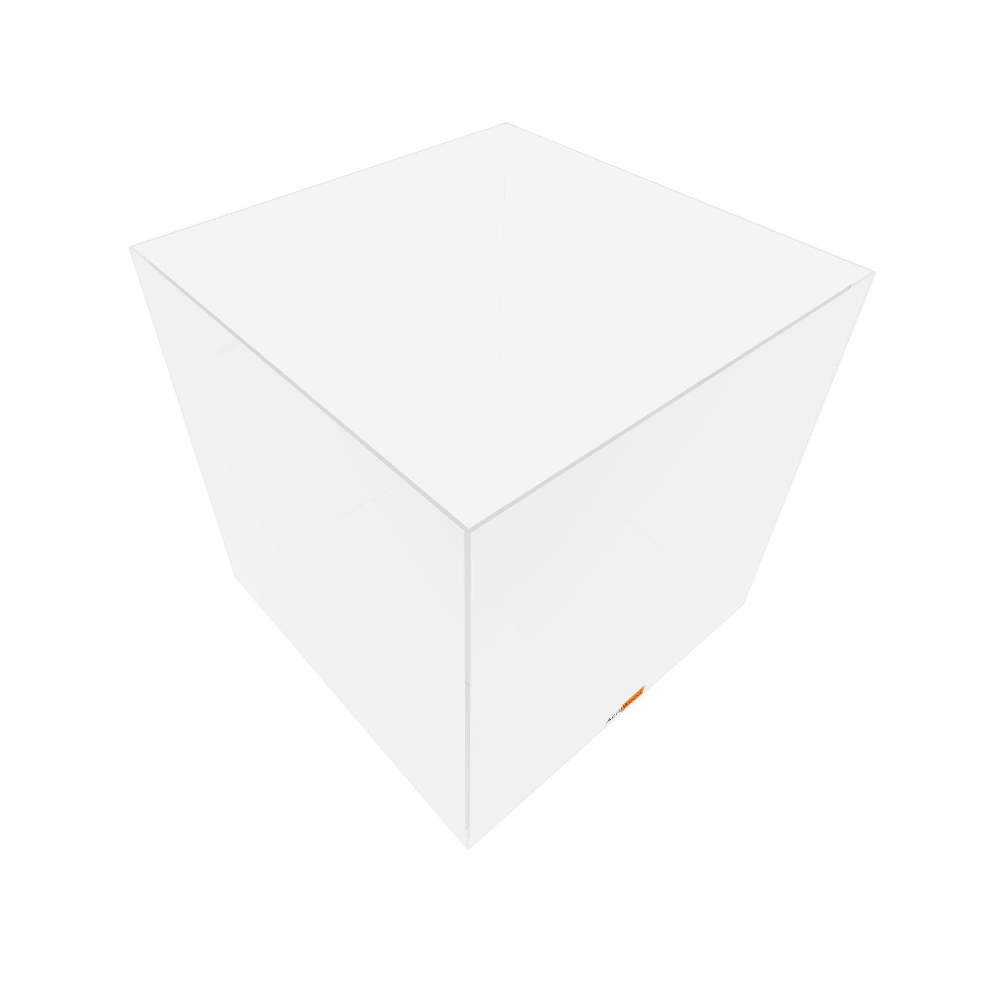 Caixa Quadrada Em Acrílico 40x40x40cm