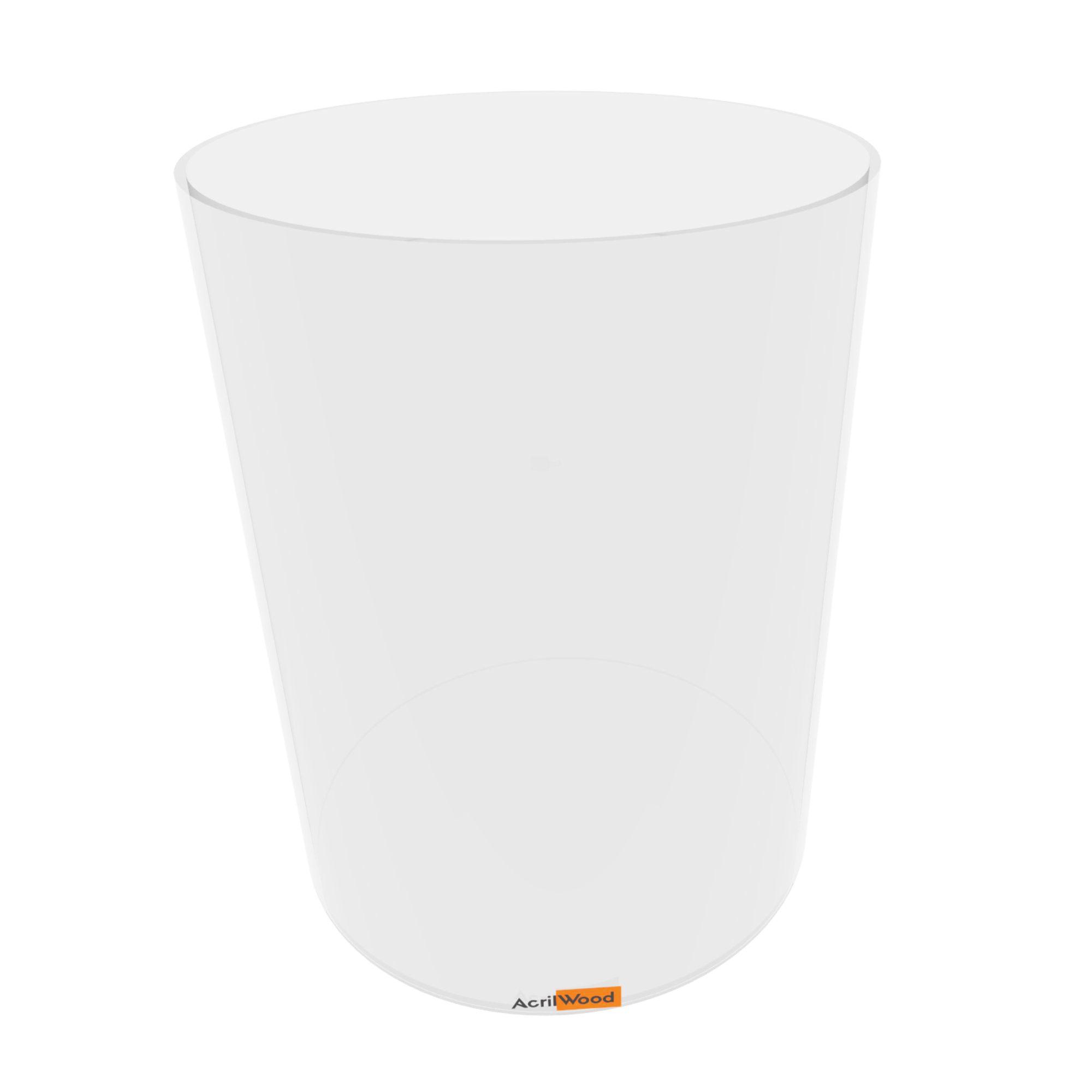 Caixa Redonda Em Acrílico Cristal - 30x40cm