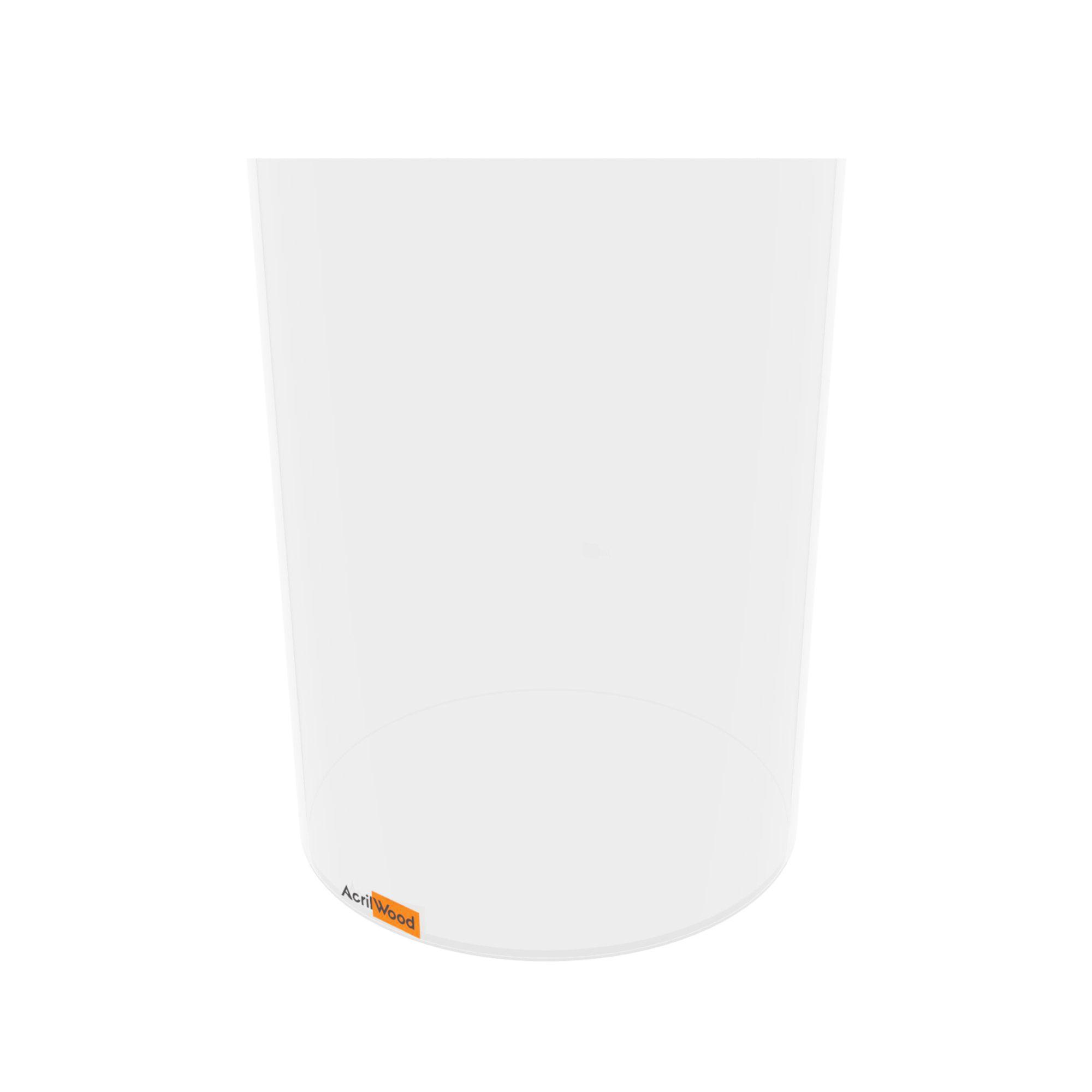 Caixa Redonda Em Acrílico Cristal - 20x25cm