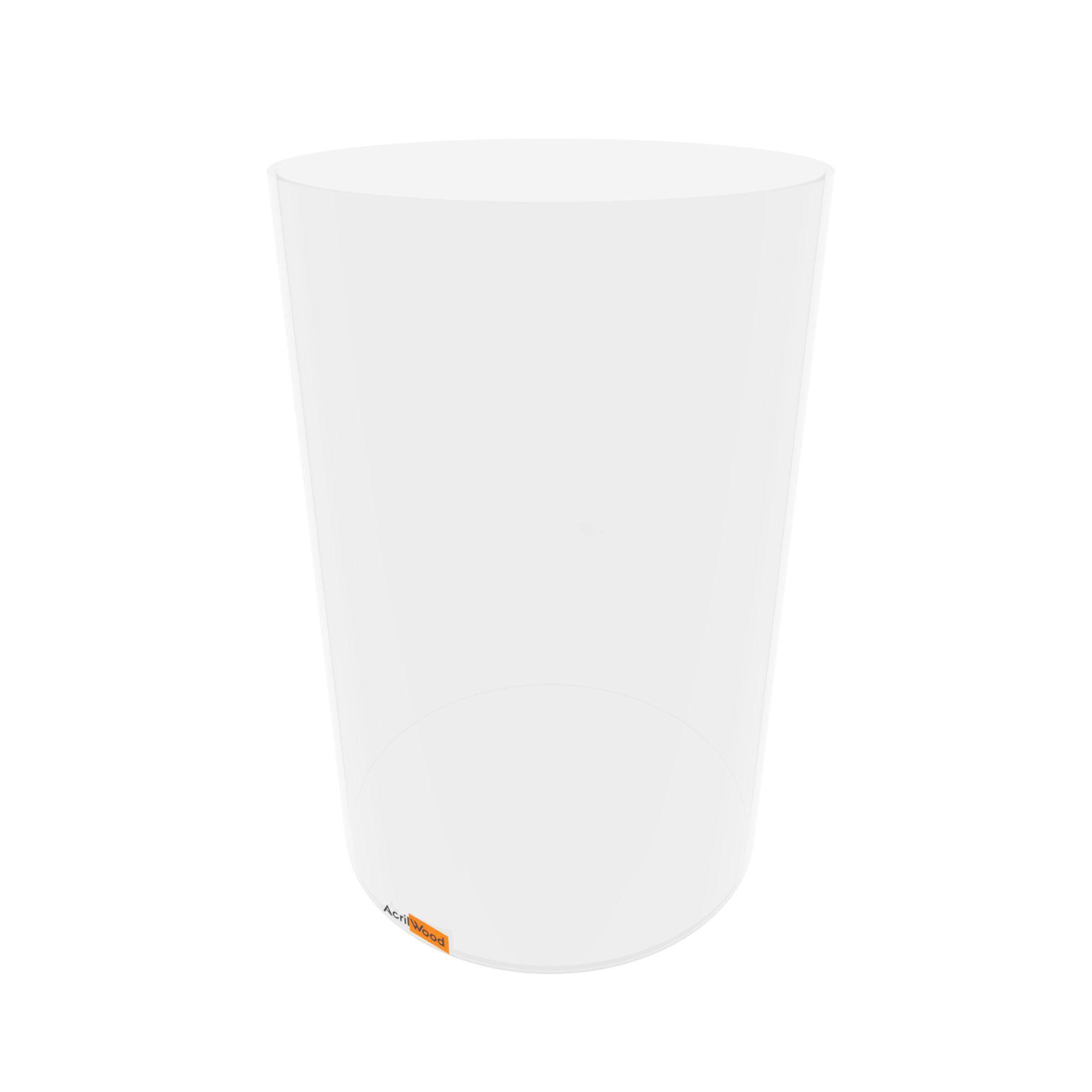Caixa Redonda Em Acrílico Cristal - 20x30cm