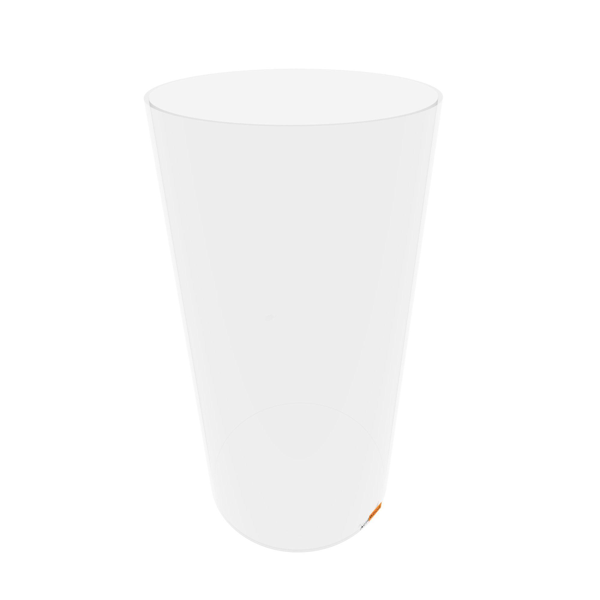 Caixa Redonda Em Acrílico Cristal - 20x40cm