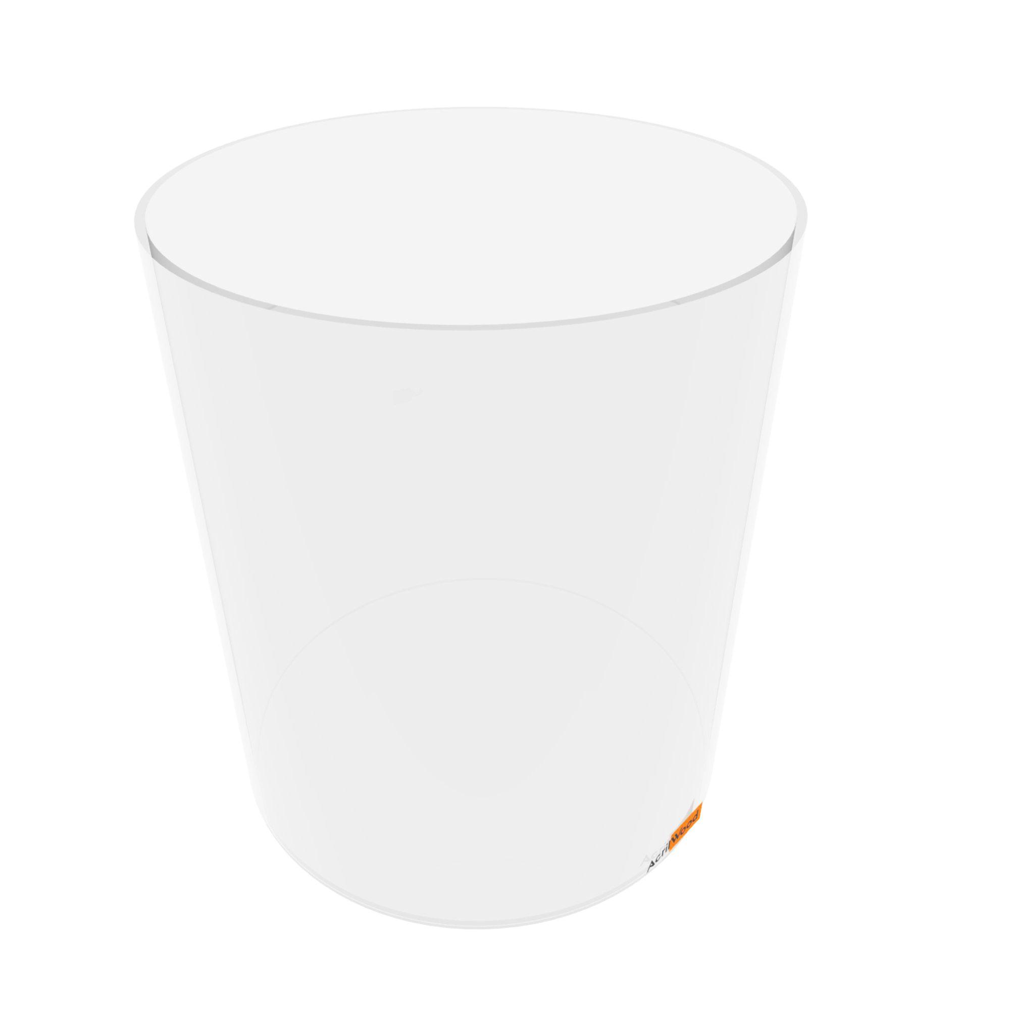 Caixa Redonda Em Acrílico Cristal - 25x30cm