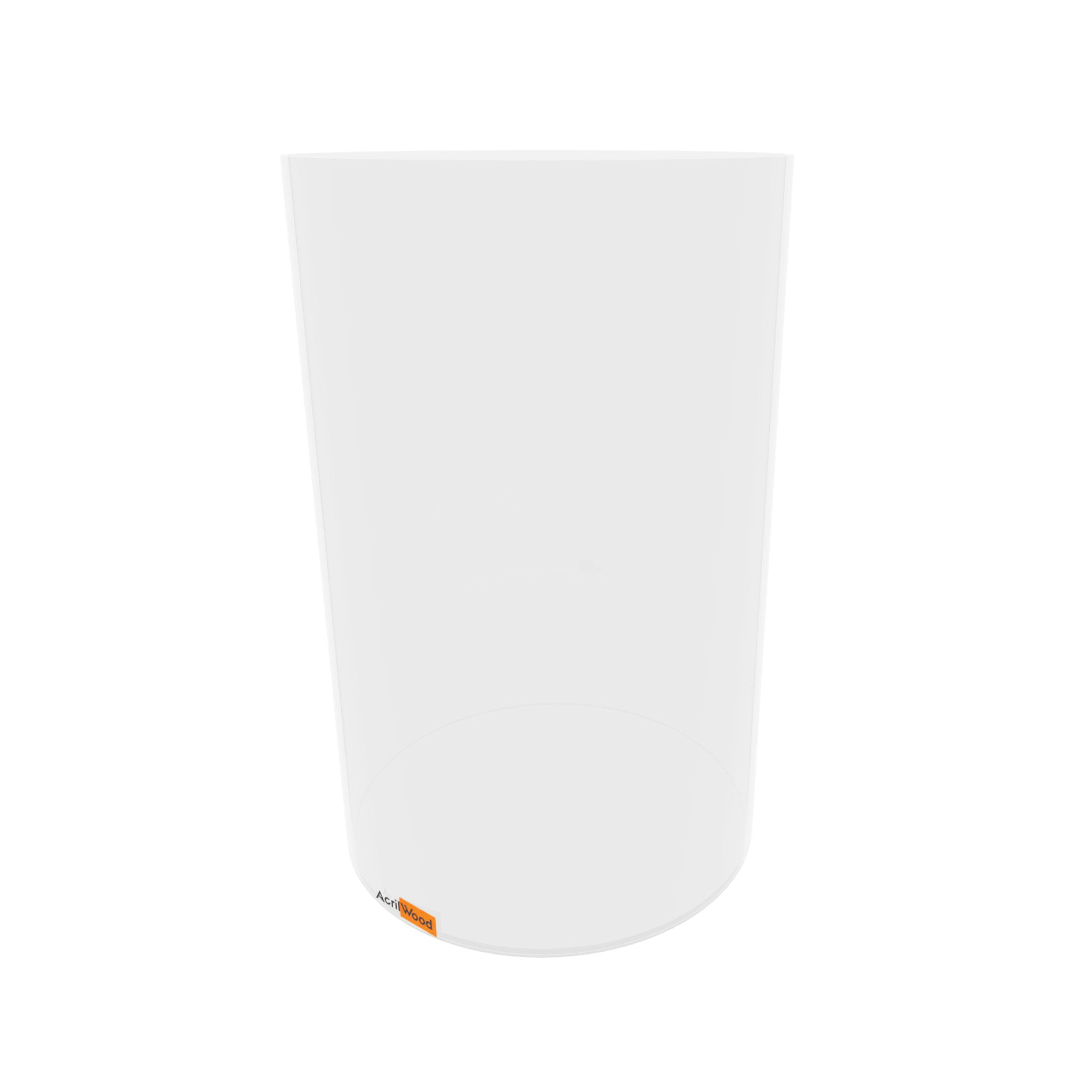 Caixa Redonda Em Acrílico Cristal  - 25x40cm