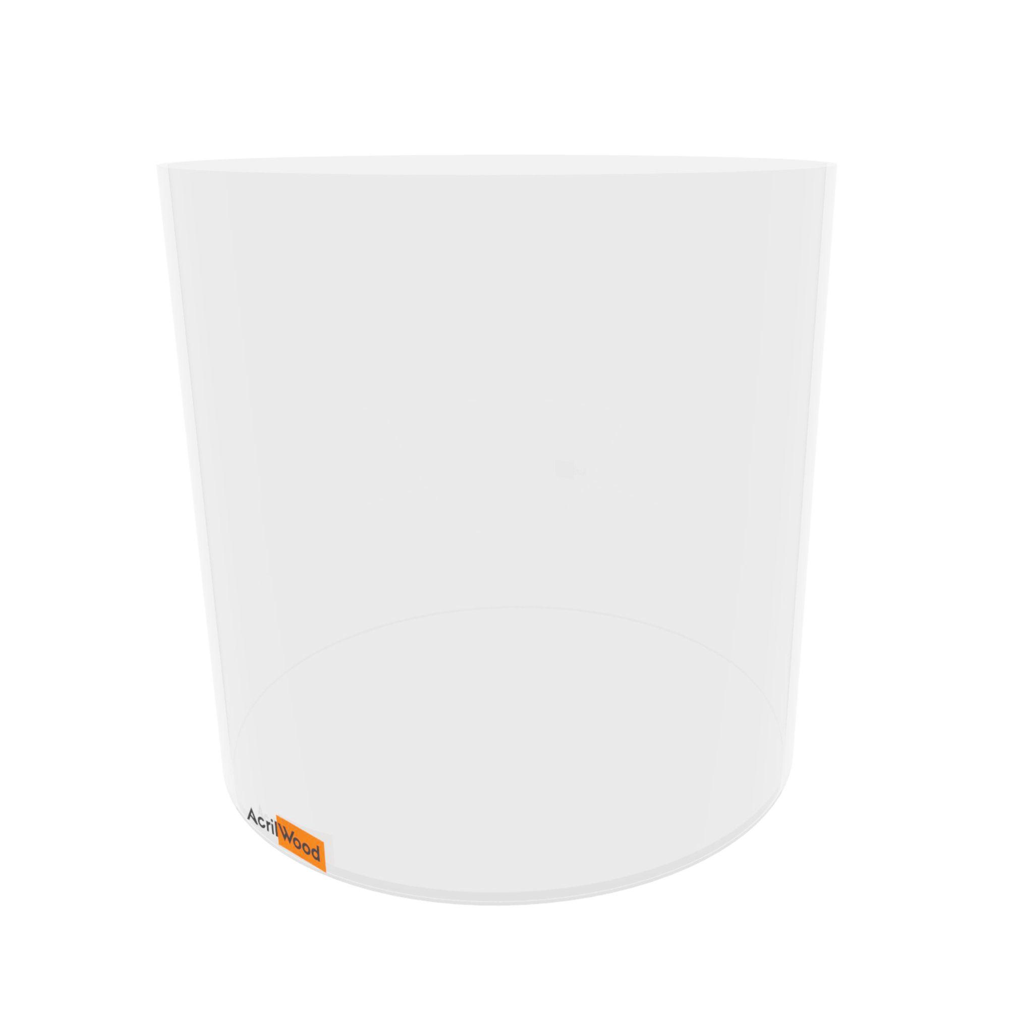 Caixa Redonda Em Acrílico Cristal - 30x30cm