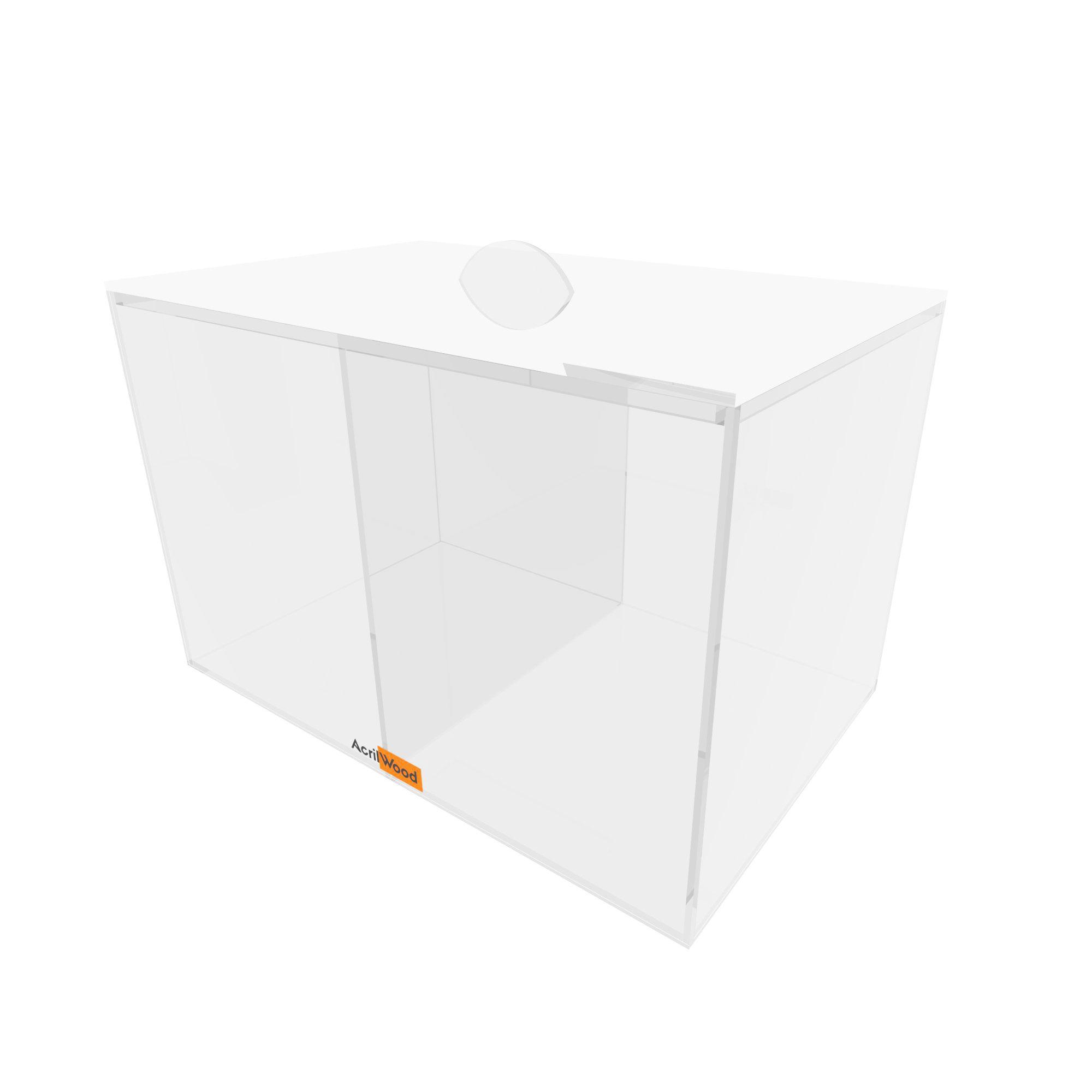 Caixa Retangular Com Divisória E Com Tampa 25x16x16cm