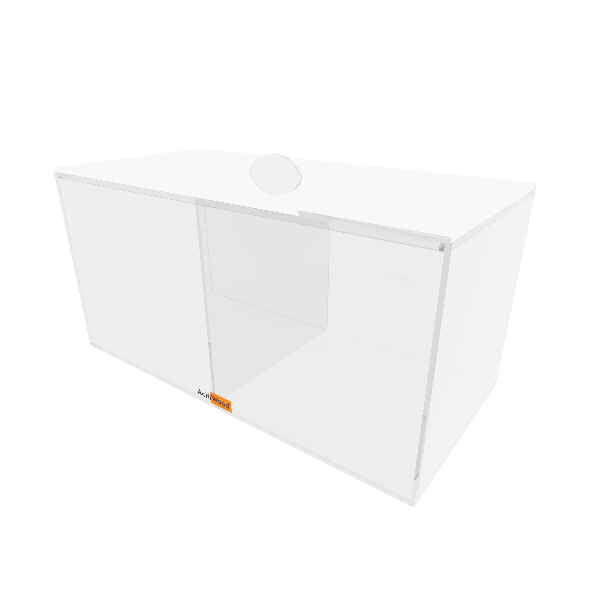 Caixa Retangular Com Divisória E Com Tampa 33x16x16cm