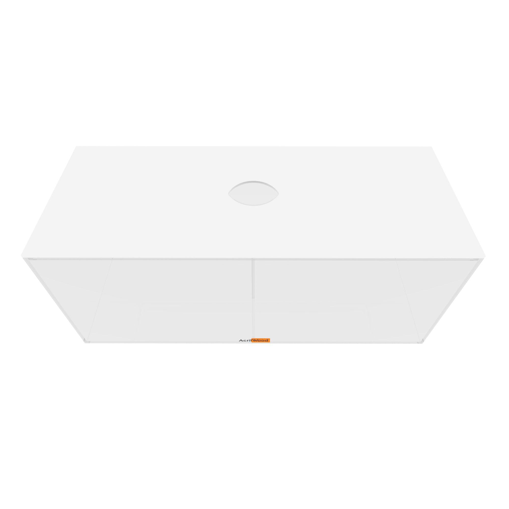 Caixa Retangular Com Divisória E Com Tampa 40x16x16cm