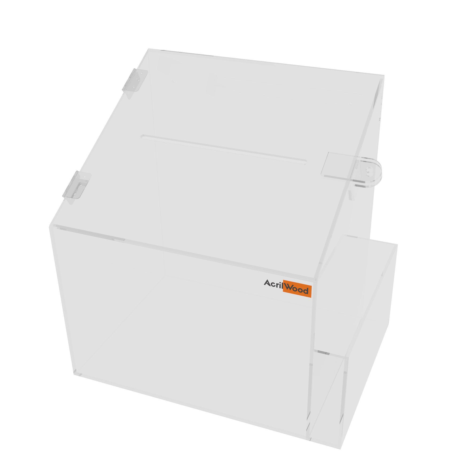Caixa Sugestão Em Acrílico Cristal Grande - 25x20x30cm