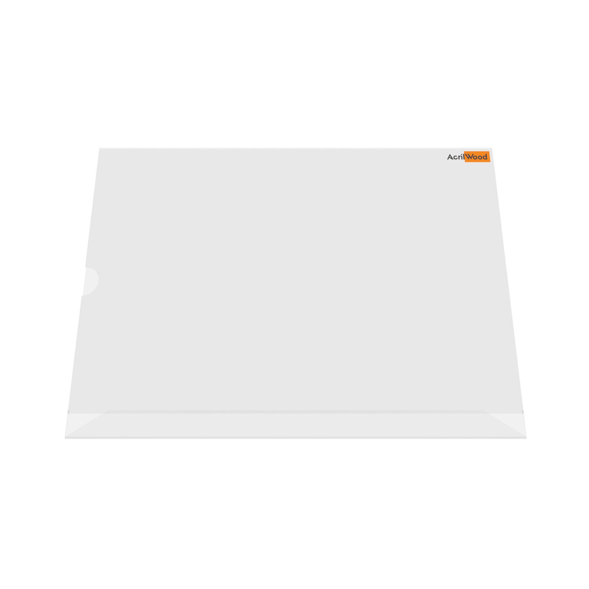 Display De Mesa Em Acrílico Formato A3 Em L Horizontal