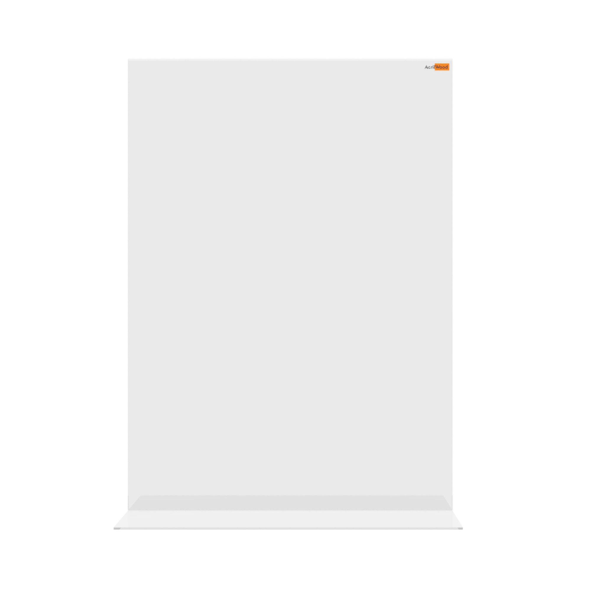 Display De Mesa Em Acrílico Formato A3 Em T Vertical