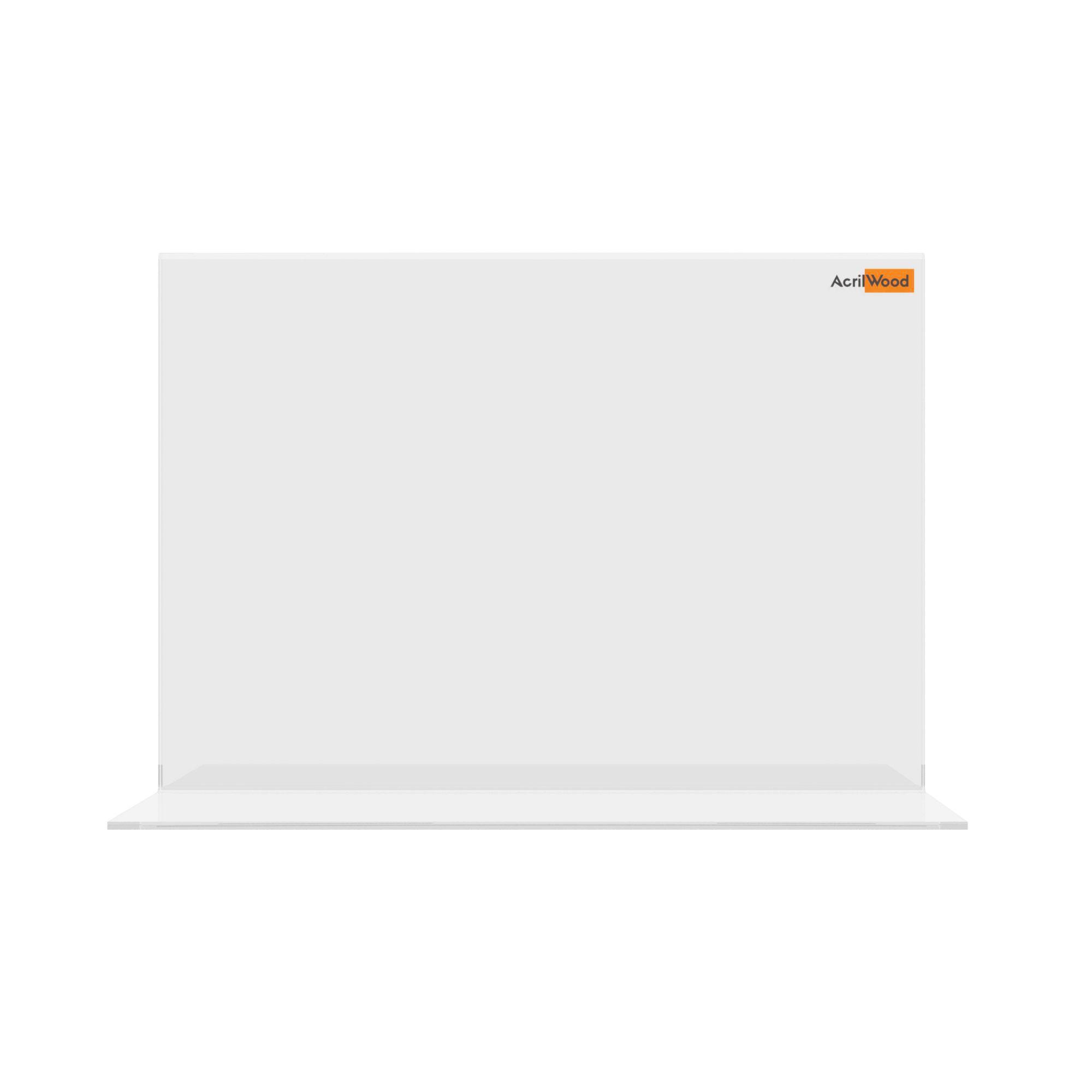 Display De Mesa Em Acrílico Formato A5 Em T Horizontal