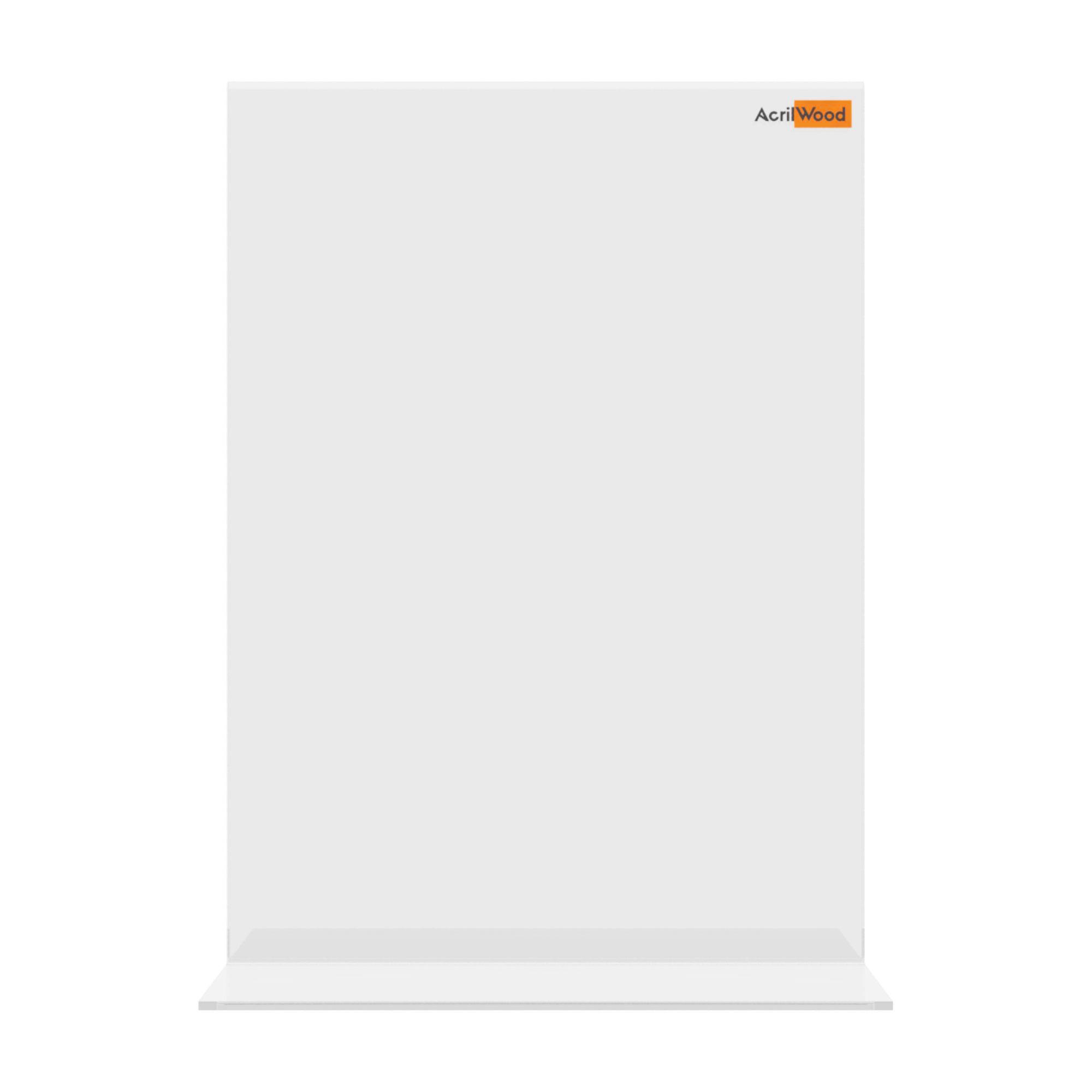 Display De Mesa Em Acrílico Formato A5 Em T Vertical