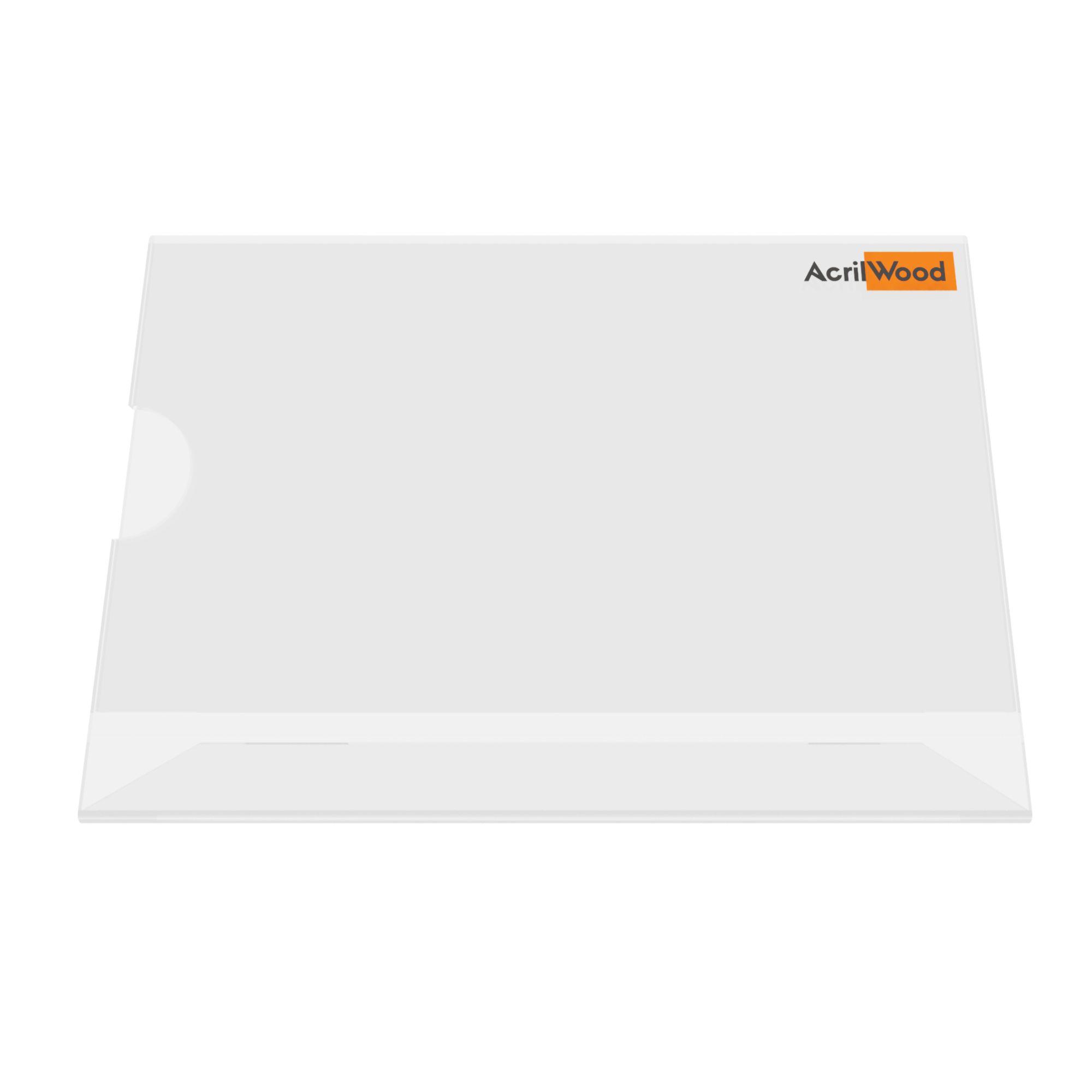 Display De Mesa Em Acrílico Formato A6 Em L Horizontal