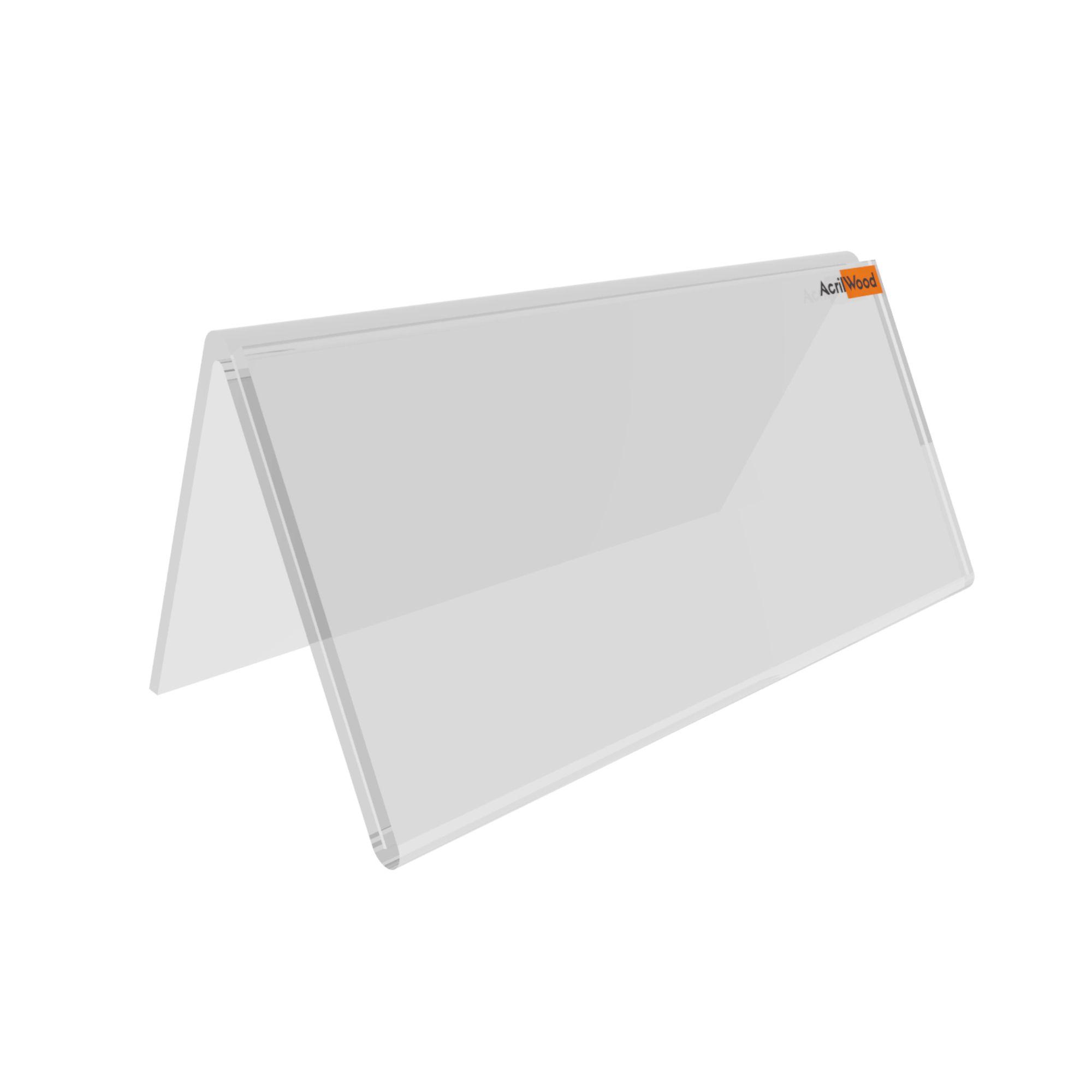 Display De Mesa Ou Balcão Em V Dupla Face - 10x5cm