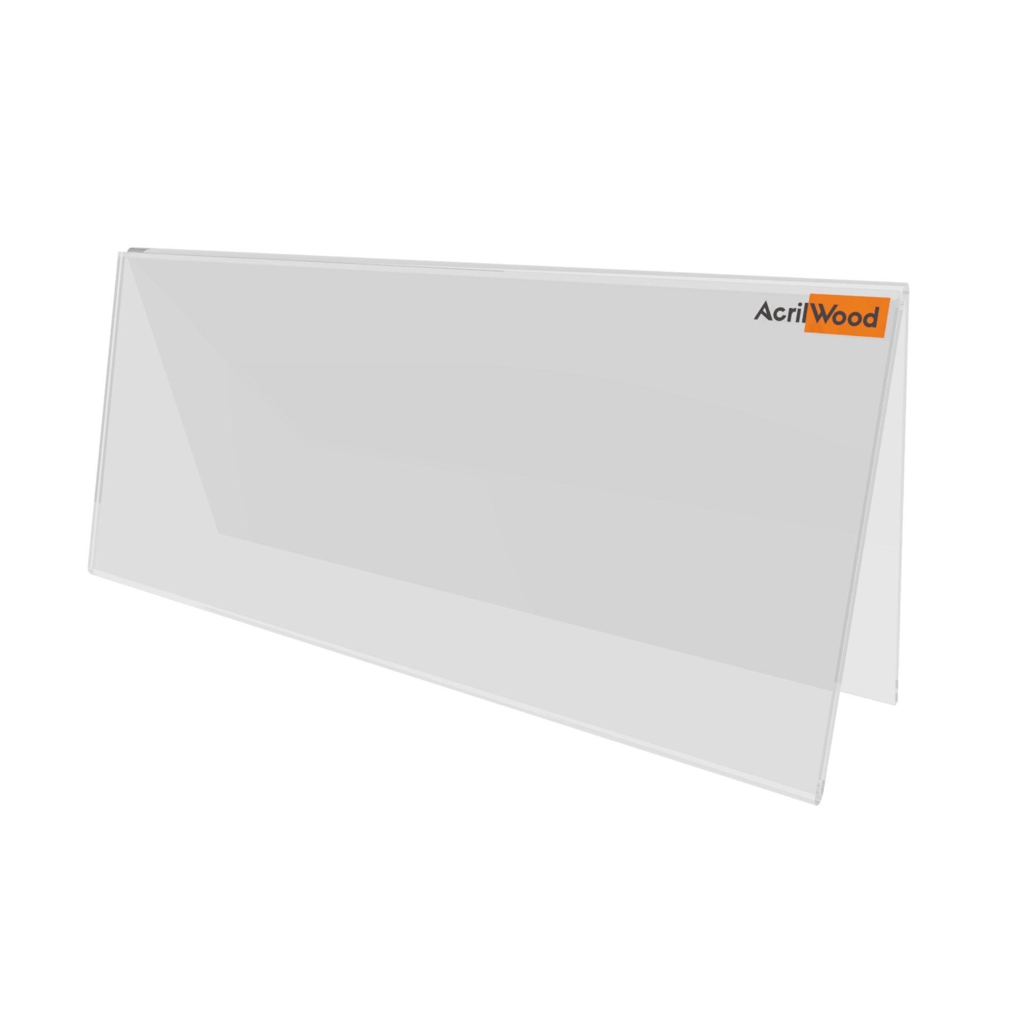 Display De Mesa Ou Balcão Em V Dupla Face - 20x10cm