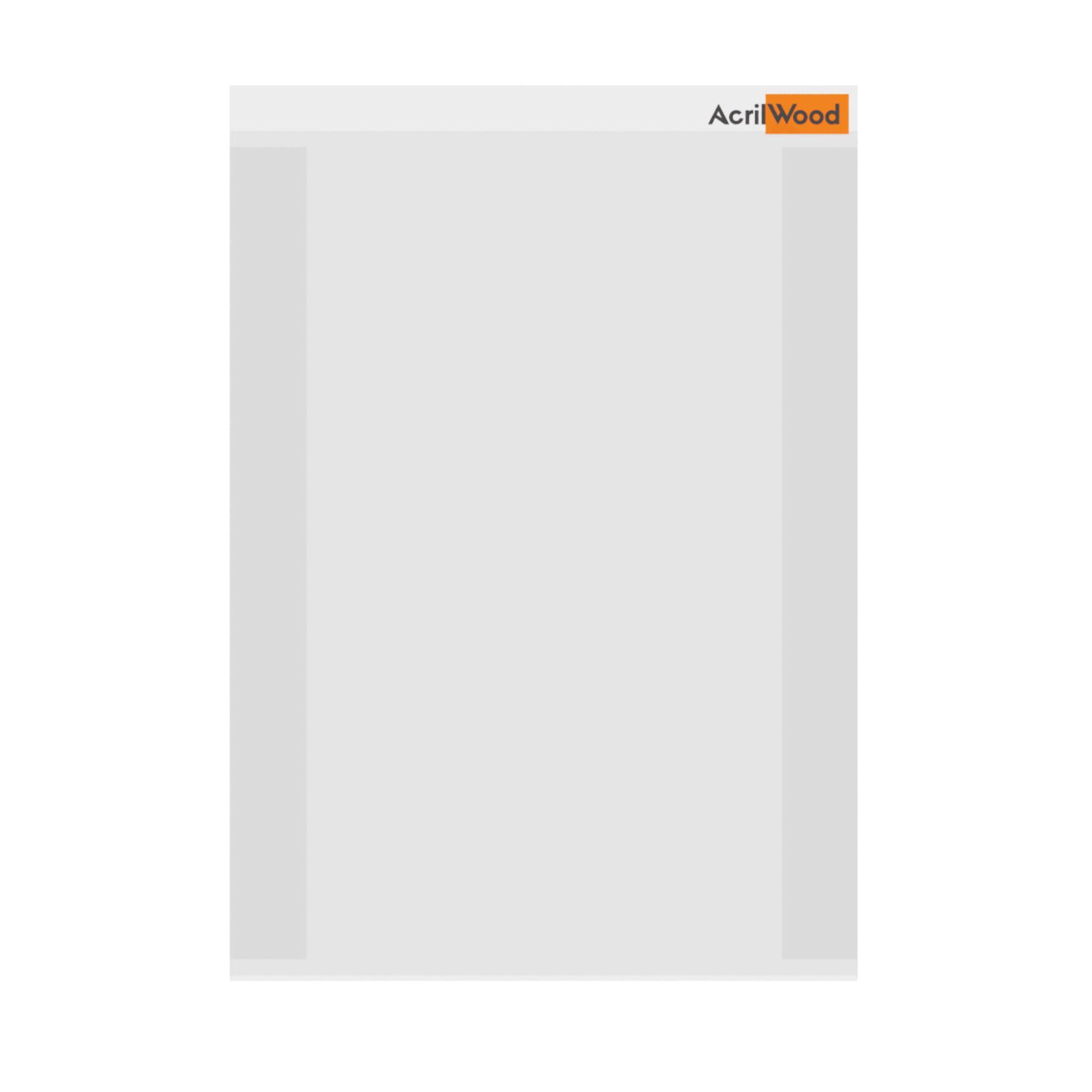 Display De Parede Em Acrílico Formato A4 Vertical Com Fundo