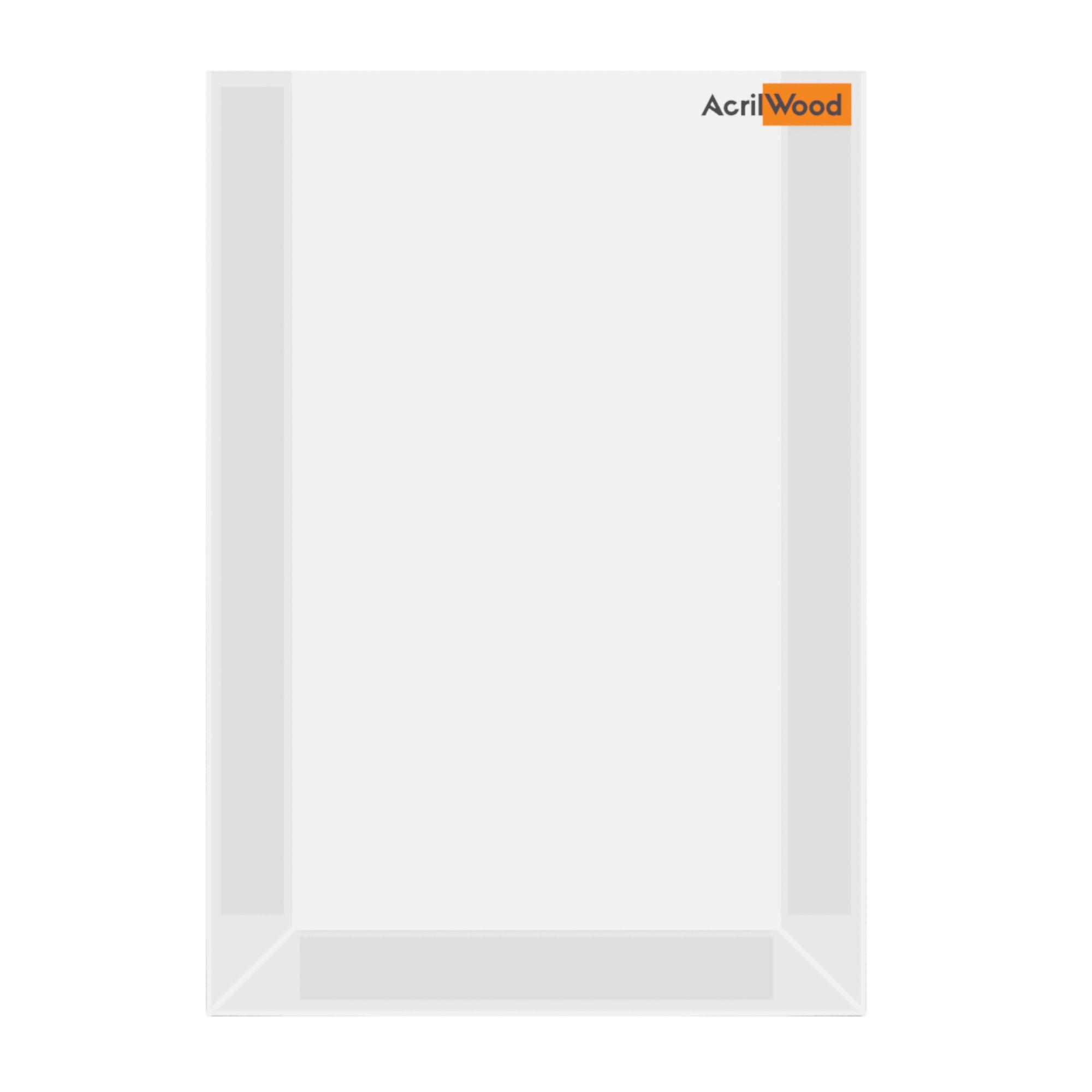 Display De Parede Em Acrílico Formato A4 Vertical Sem Fundo