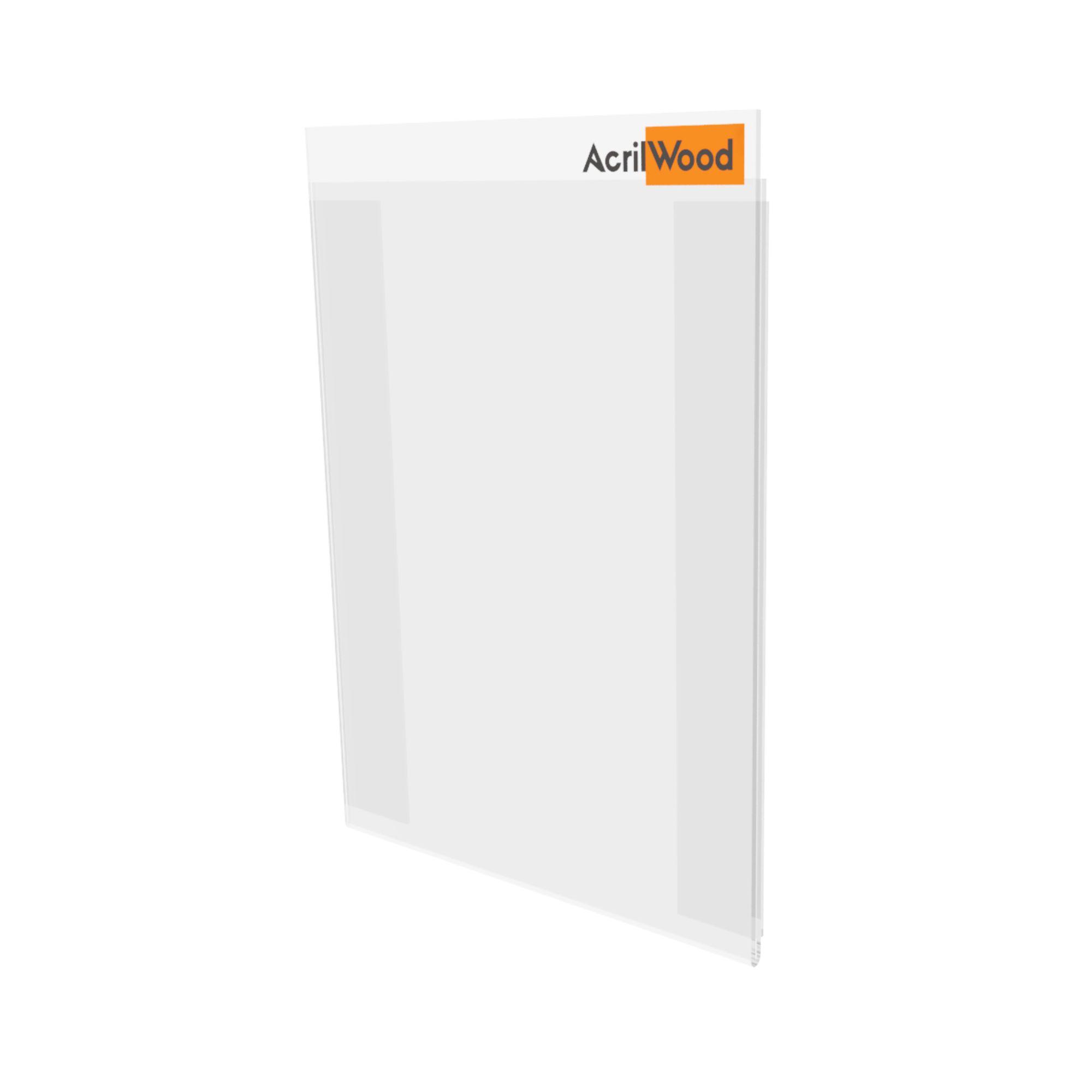 Display De Parede Em Acrílico Formato A5 Vertical Com Fundo