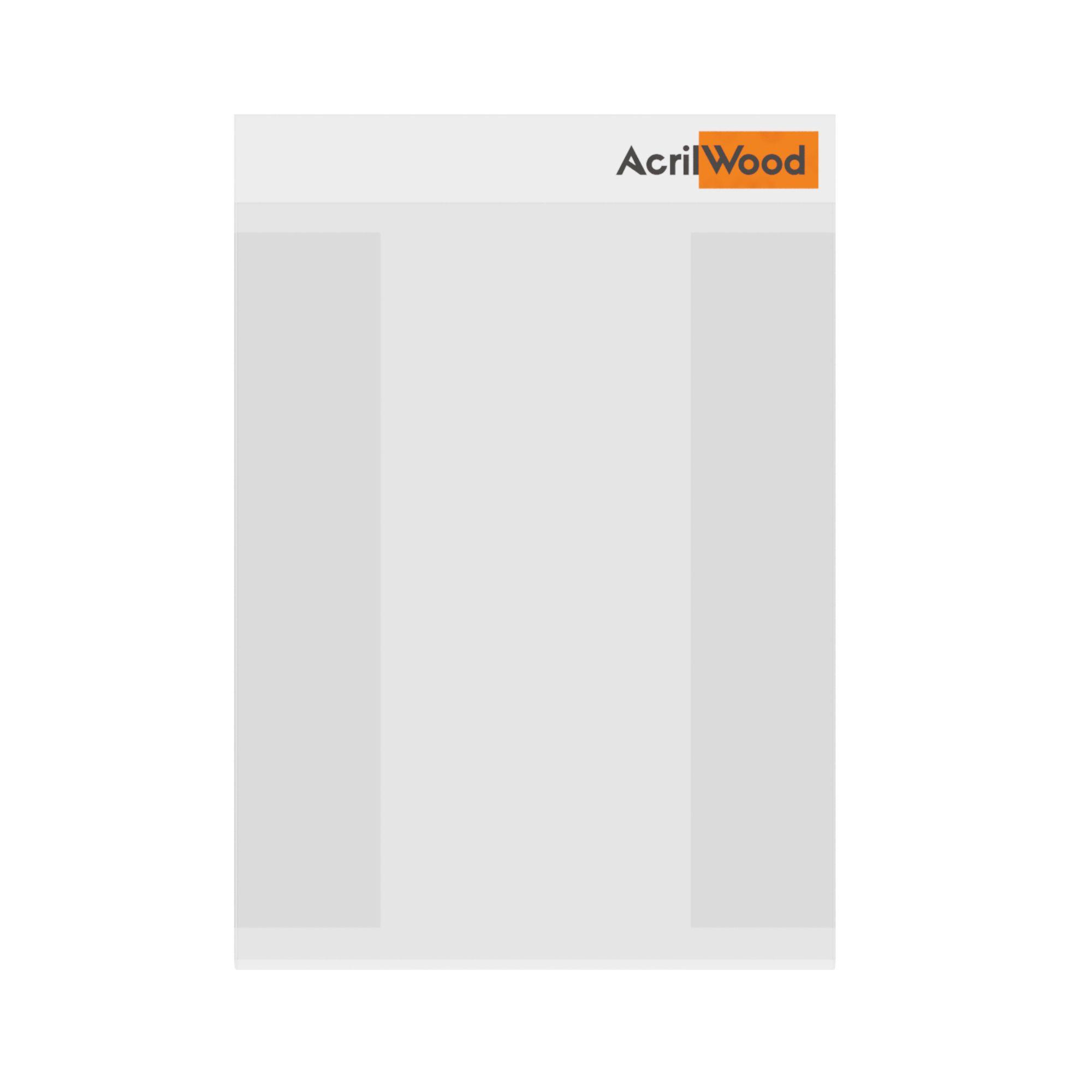 Display De Parede Em Acrílico Formato A6 Vertical Com Fundo