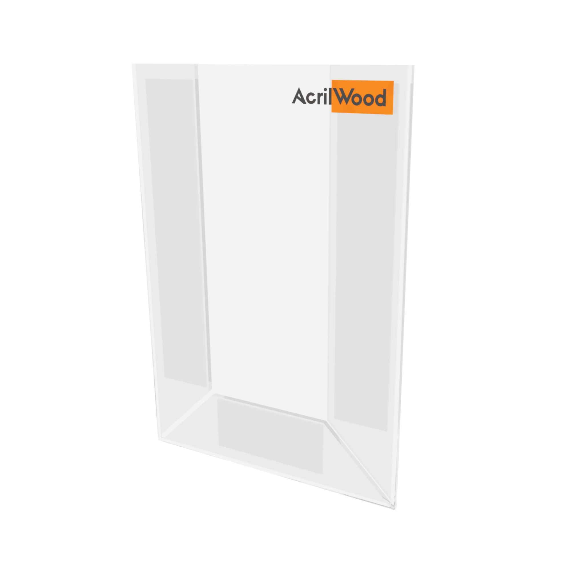 Display De Parede Em Acrílico Formato A6 Vertical Sem Fundo