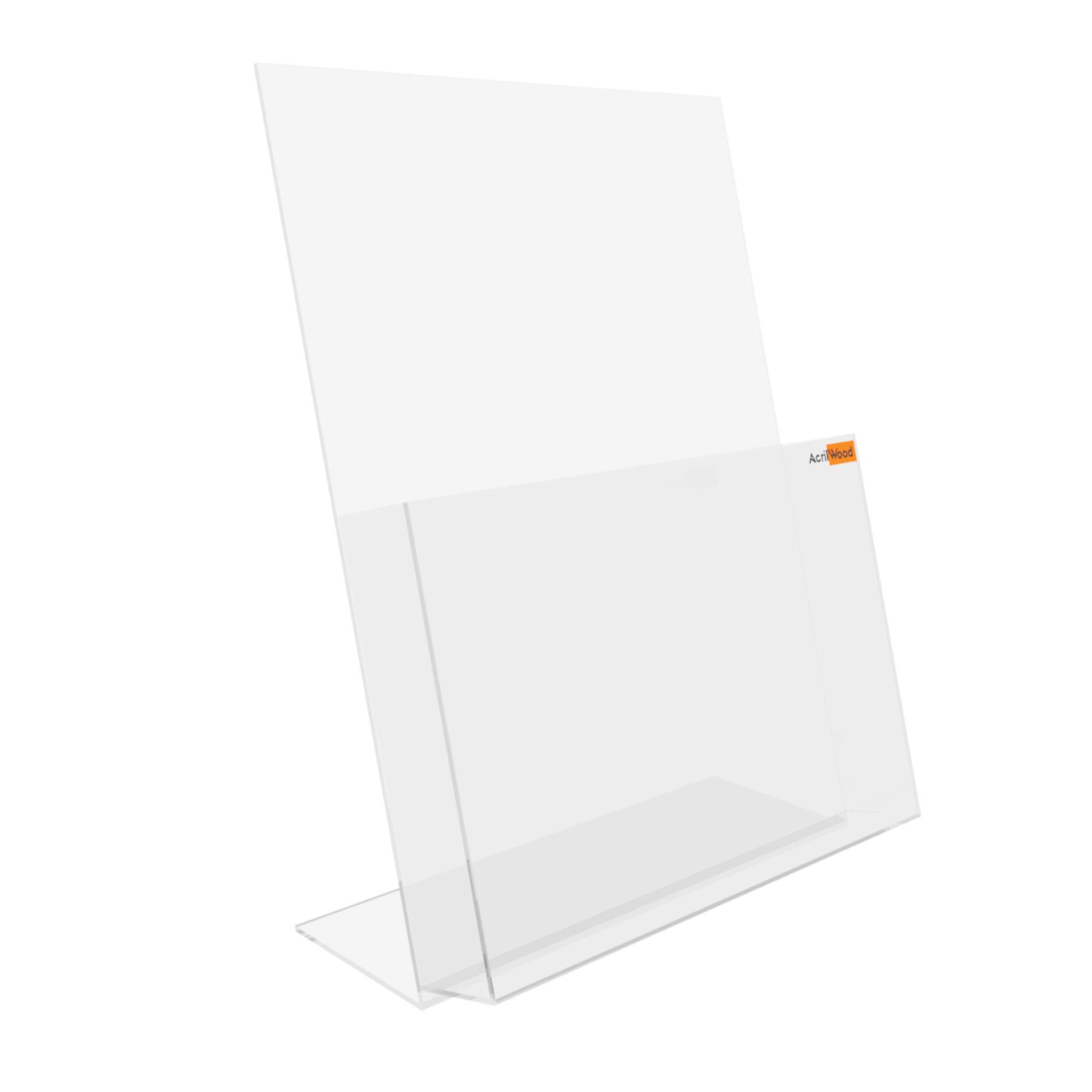 Display Porta Folder A3 Em Acrílico De Balcão Vertical