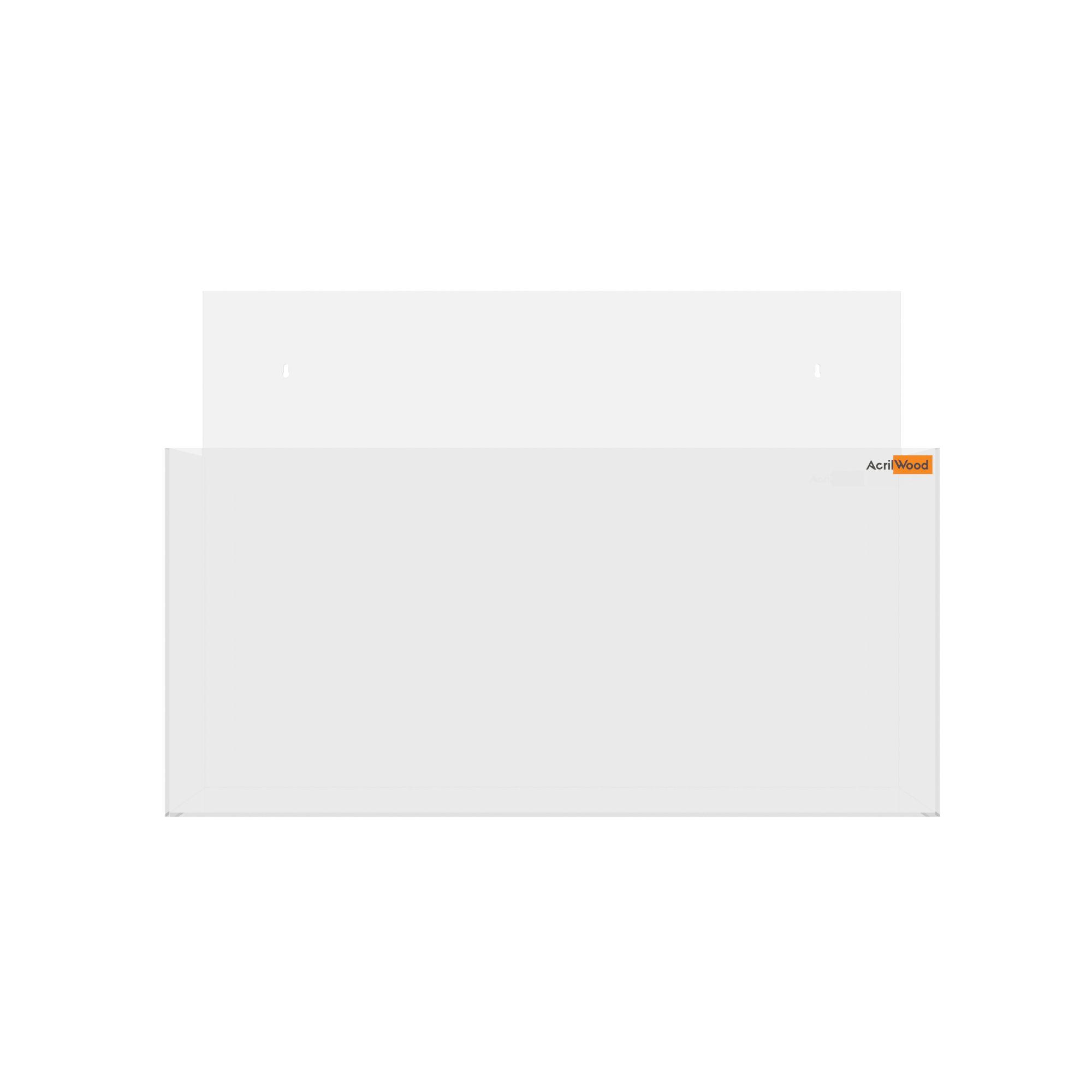 Display Porta Folder A3 Em Acrílico De Parede Horizontal