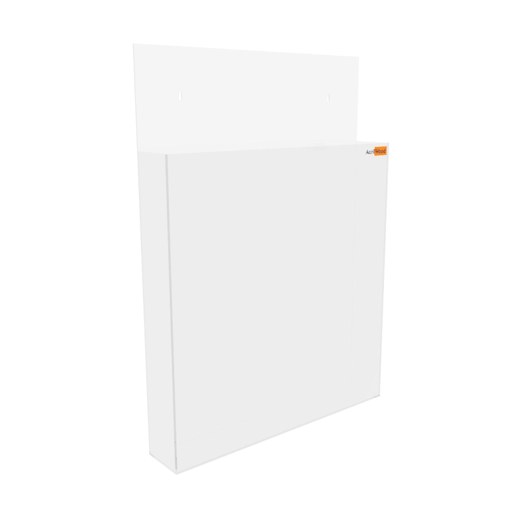 Display Porta Folder A3 Em Acrílico De Parede Vertical