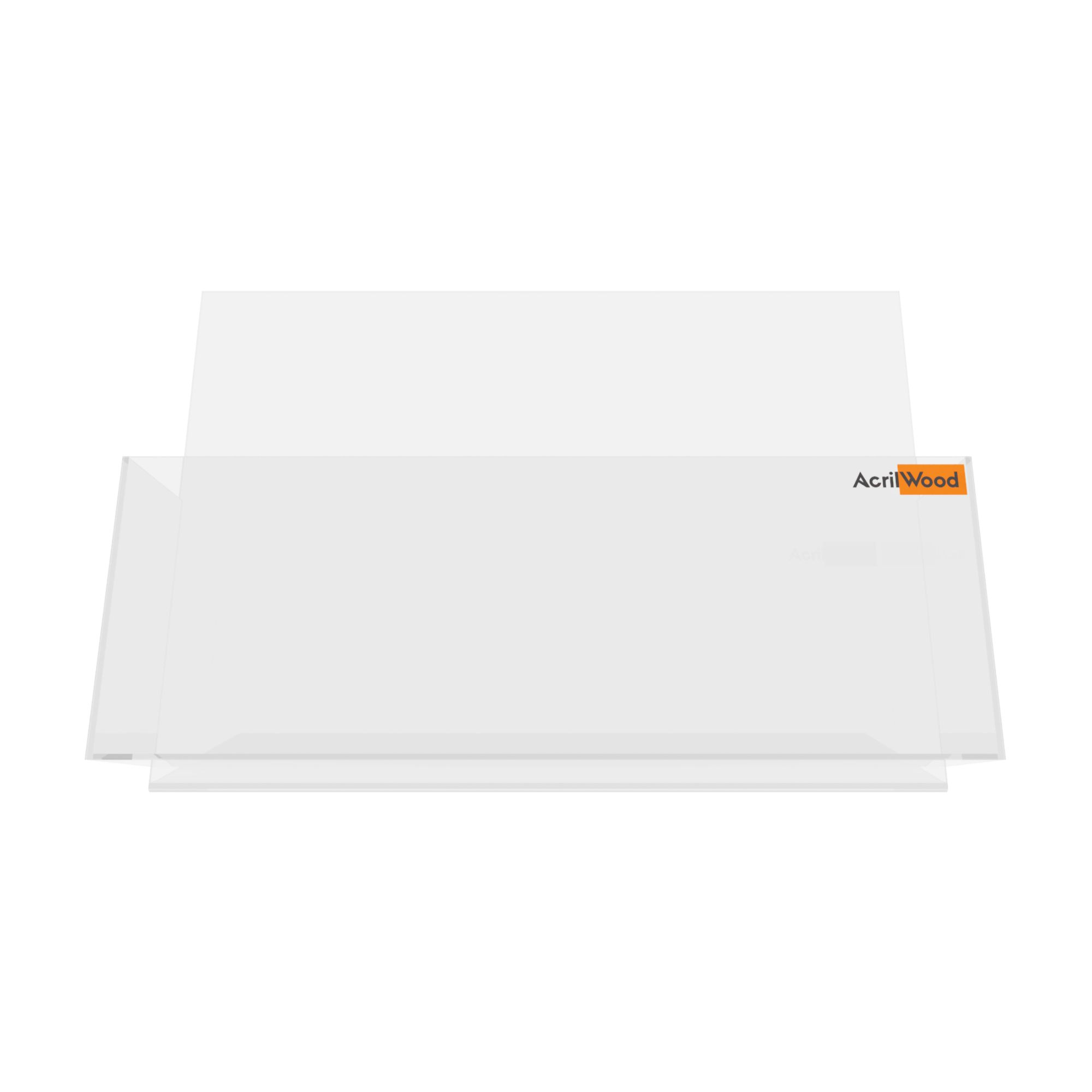 Display Porta Folder A4 Em Acrílico De Balcão Horizontal