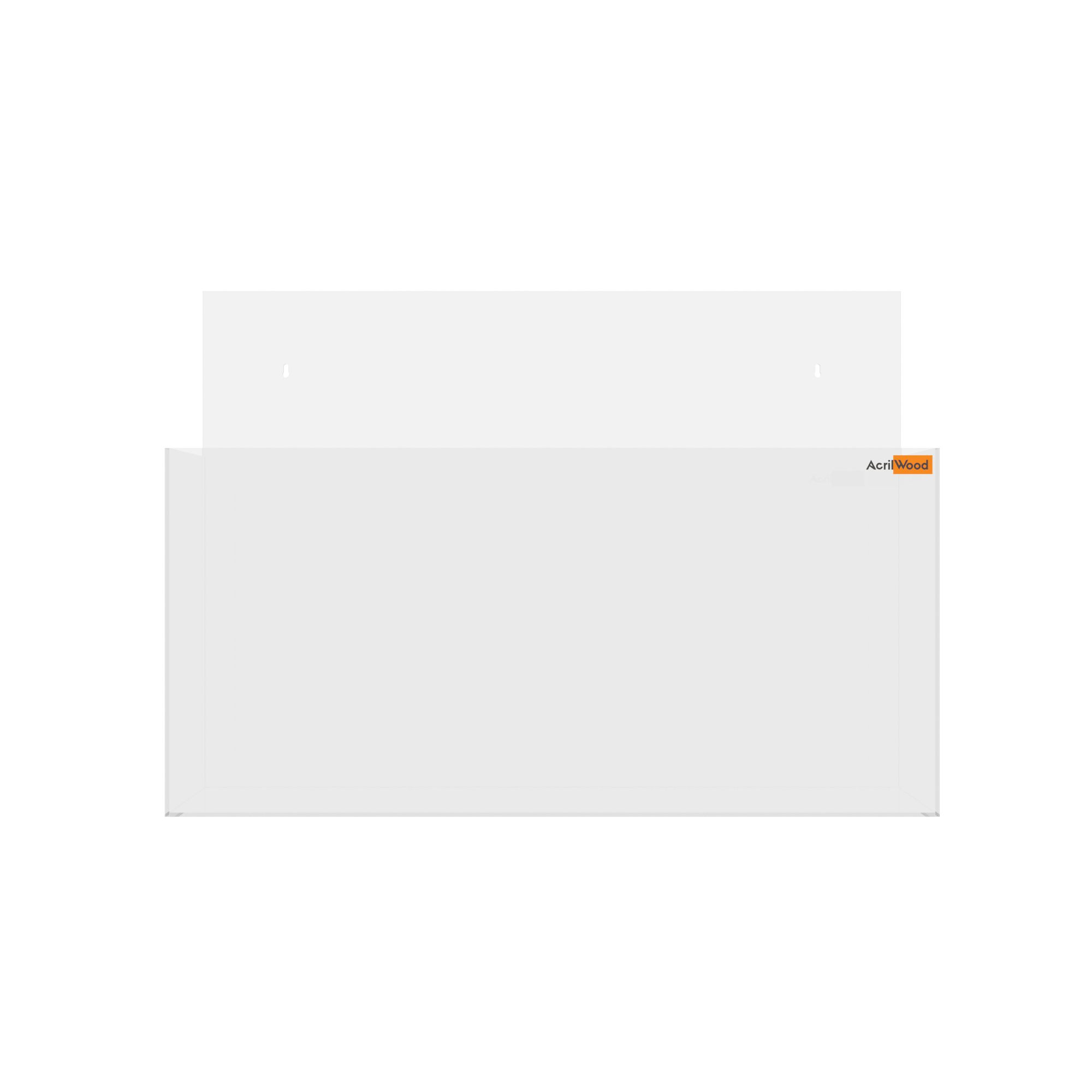 Display Porta Folder A4 Em Acrílico De Parede Horizontal