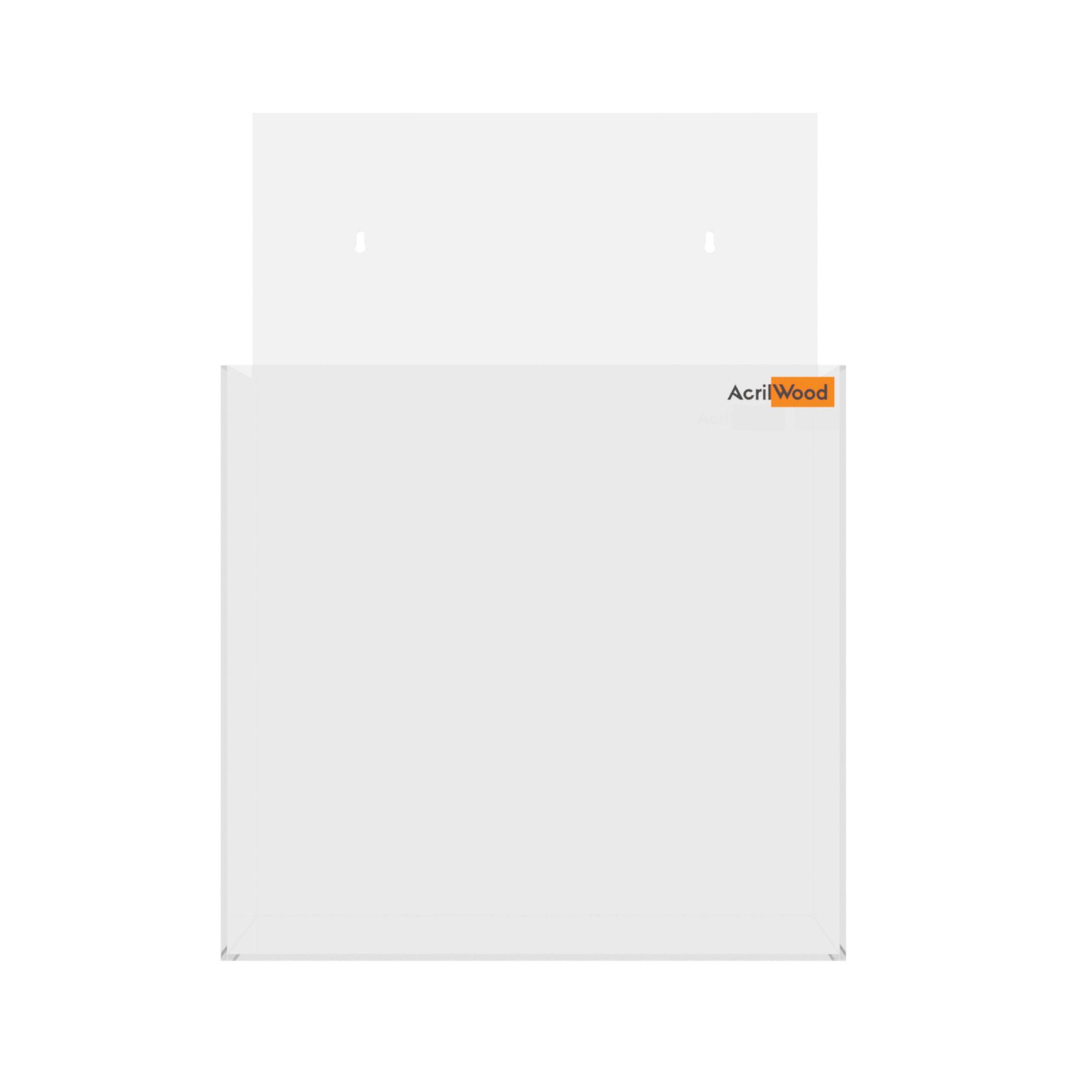 Display Porta Folder A4 Em Acrílico De Parede Vertical