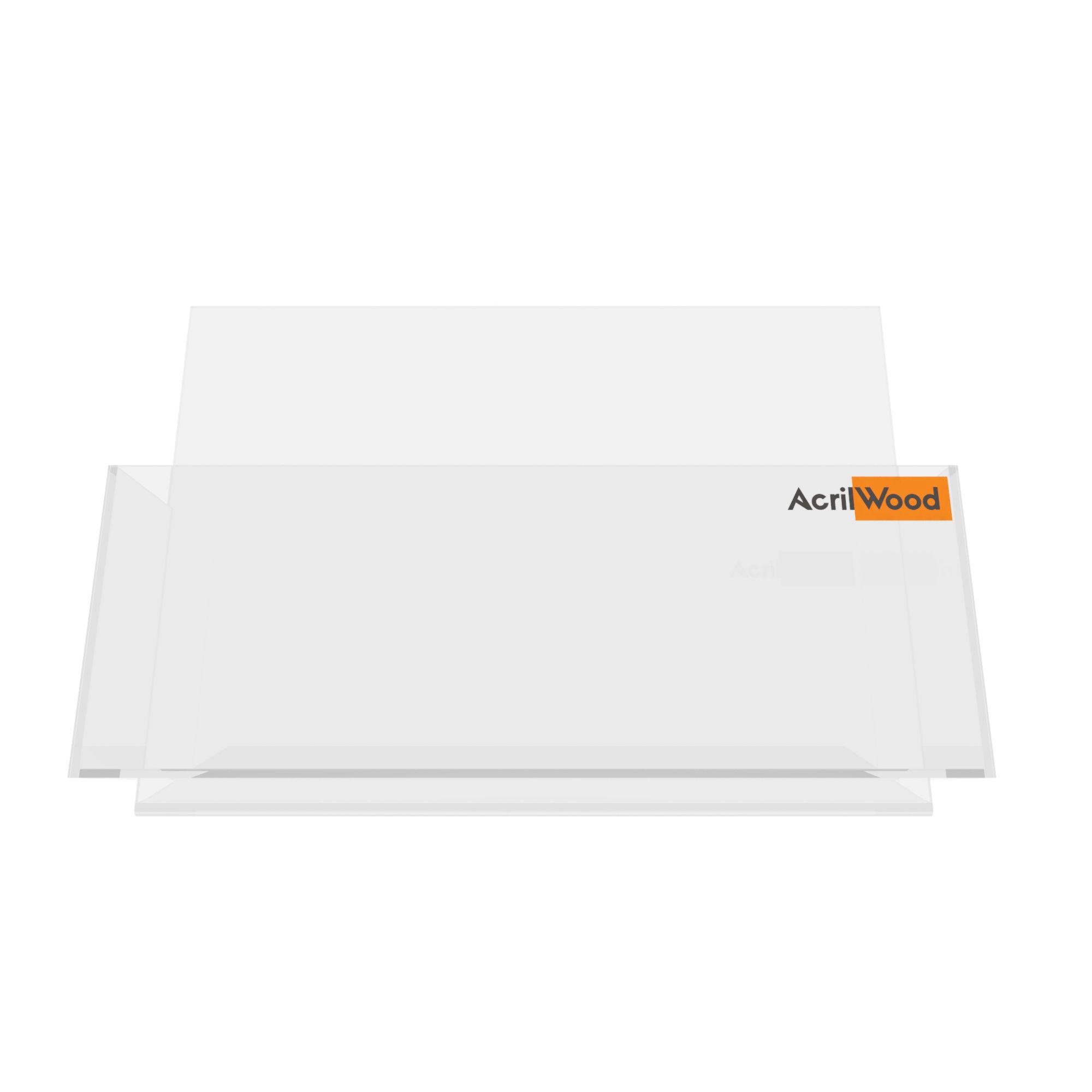 Display Porta Folder A5 Em Acrílico De Balcão Horizontal