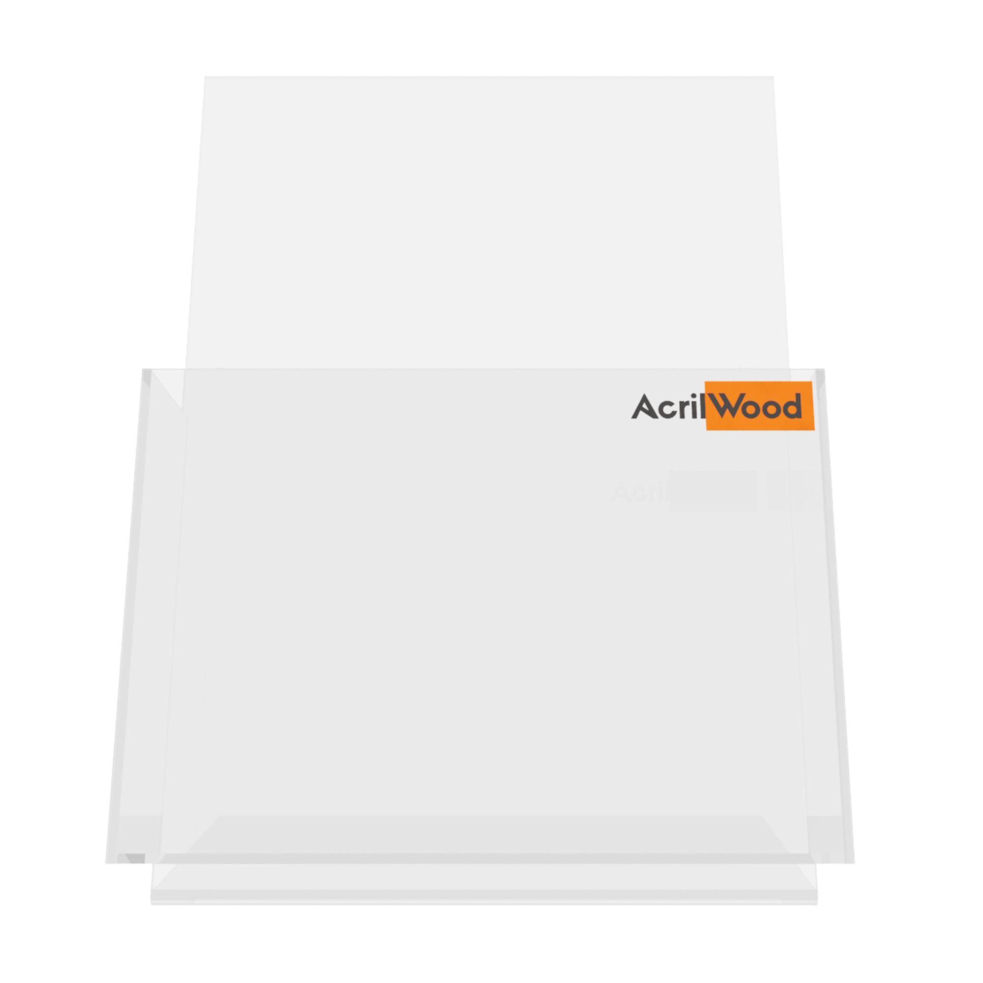 Display Porta Folder A5 Em Acrílico De Balcão Vertical