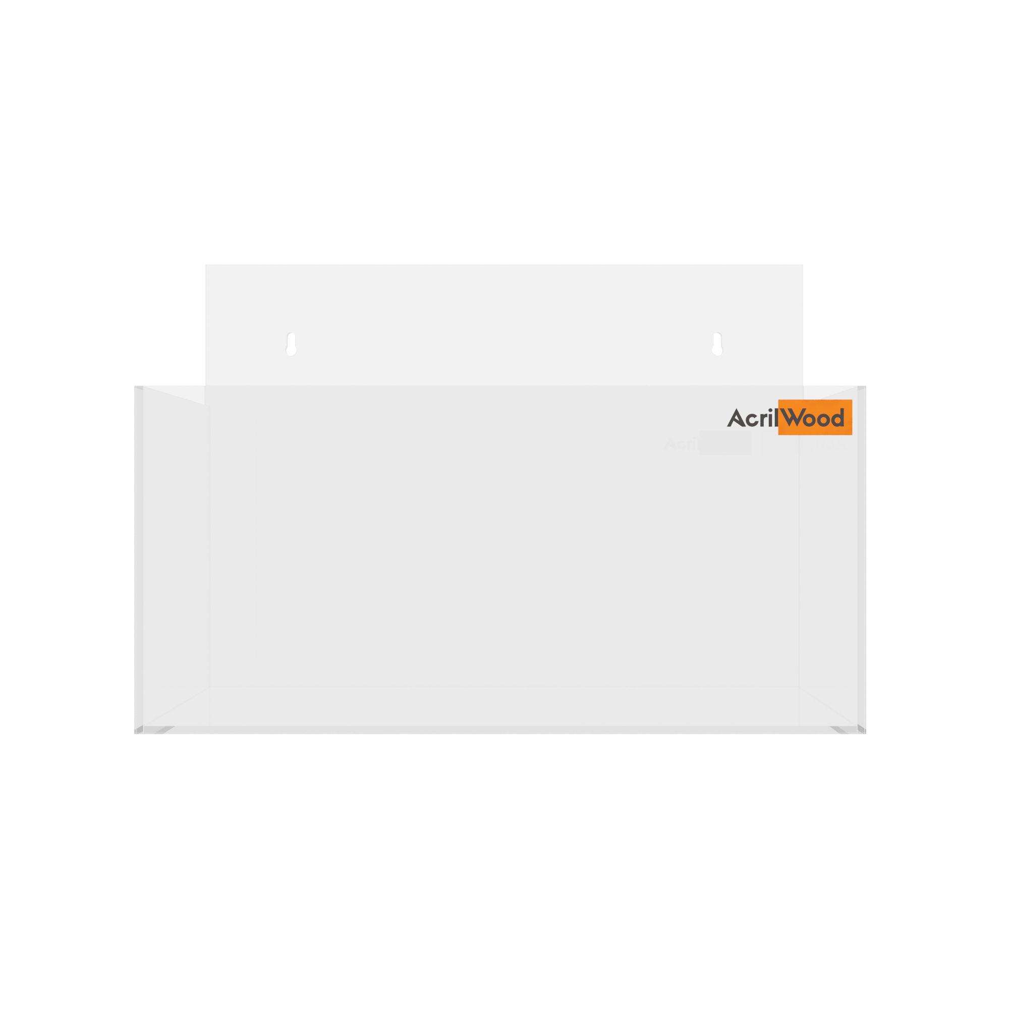 Display Porta Folder A5 Em Acrílico De Parede Horizontal