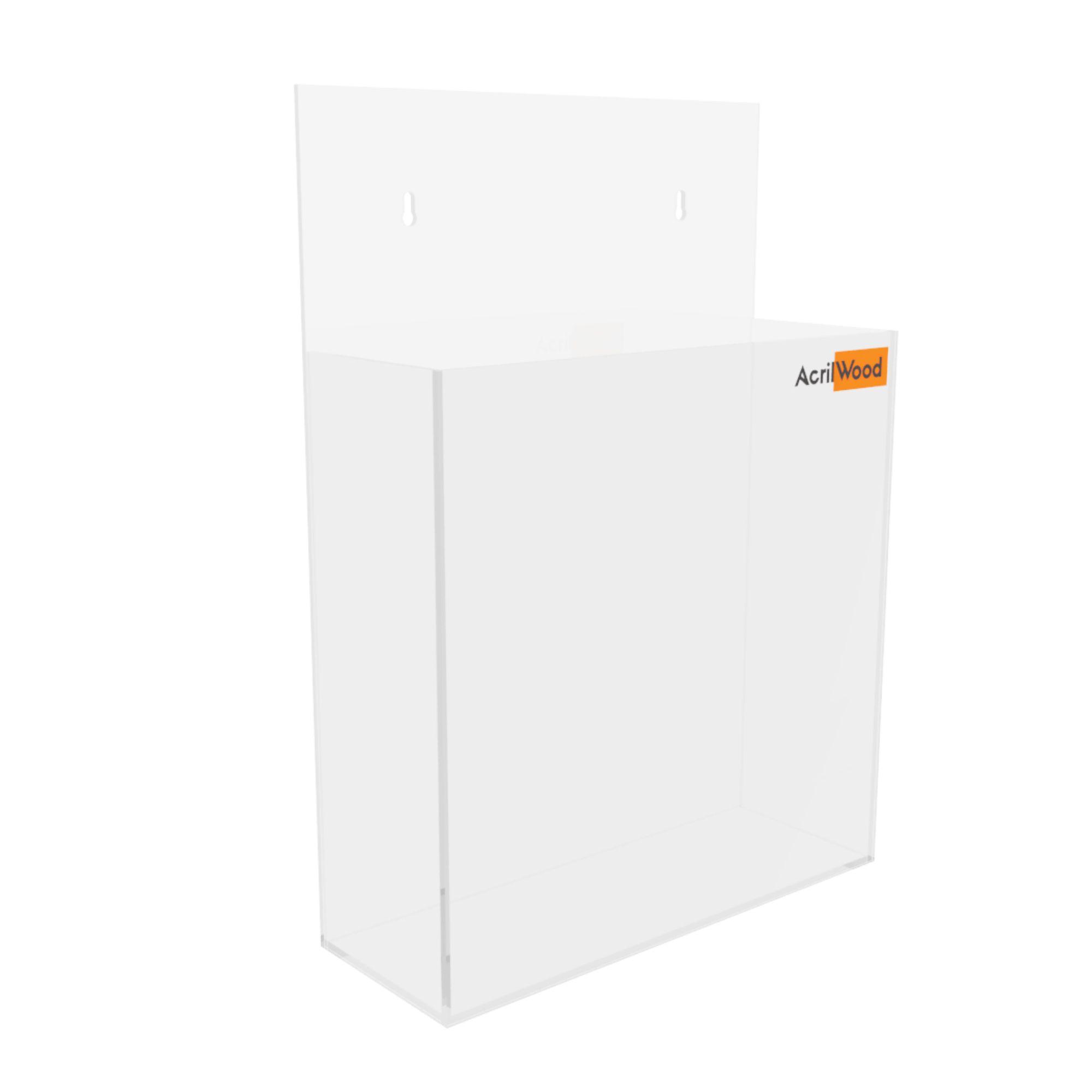 Display Porta Folder A5 Em Acrílico De Parede Vertical