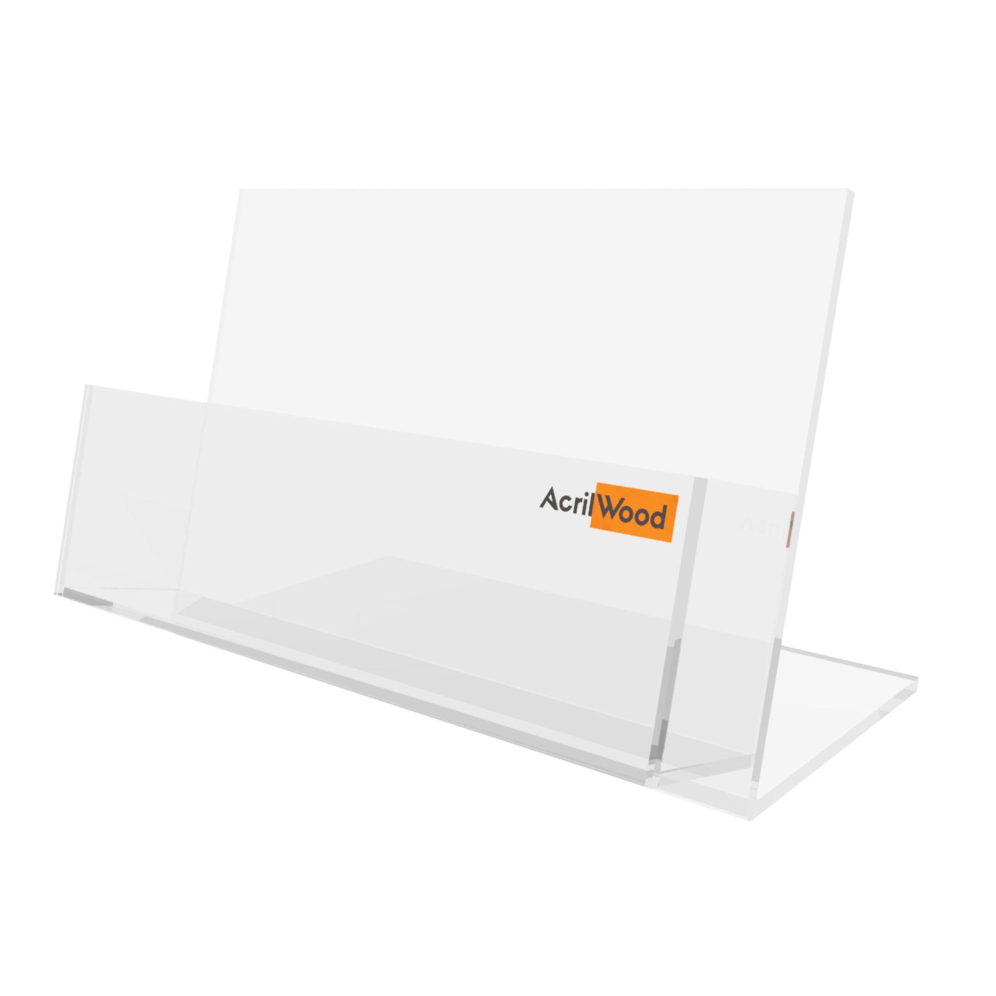 Display Porta Folder A6 Em Acrílico De Balcão Horizontal