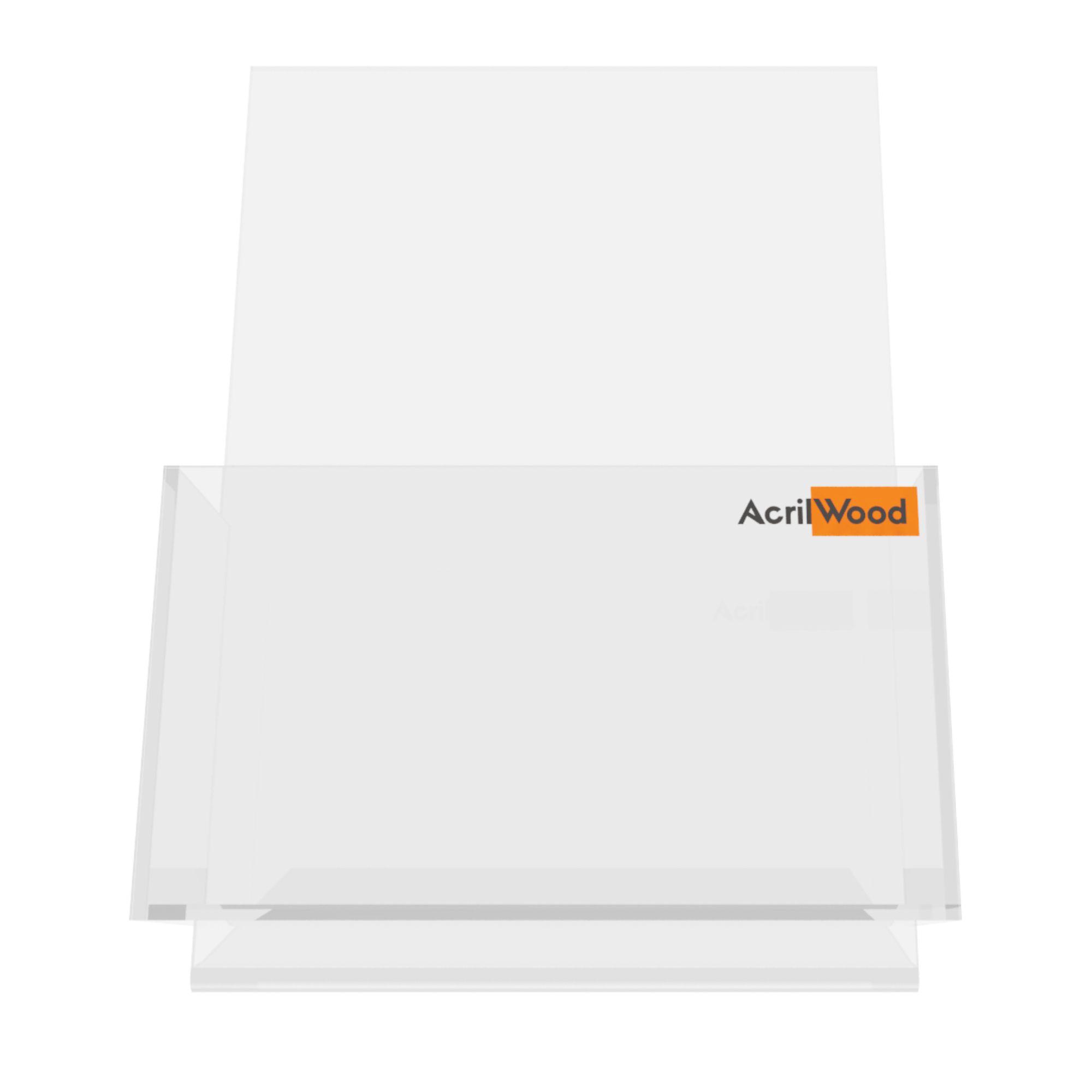 Display Porta Folder A6 Em Acrílico De Balcão Vertical